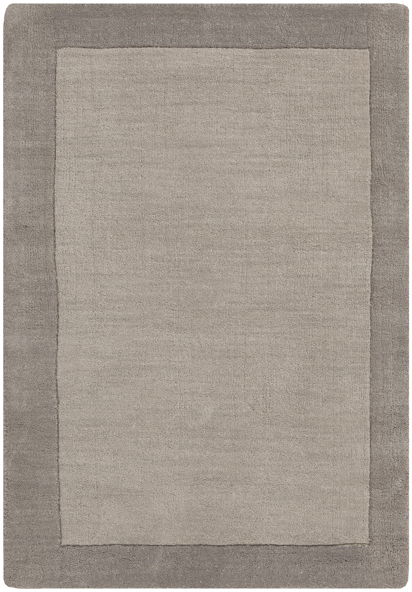 Madison Square Charcoal Light Gray Wool Area Rug L 36 X W