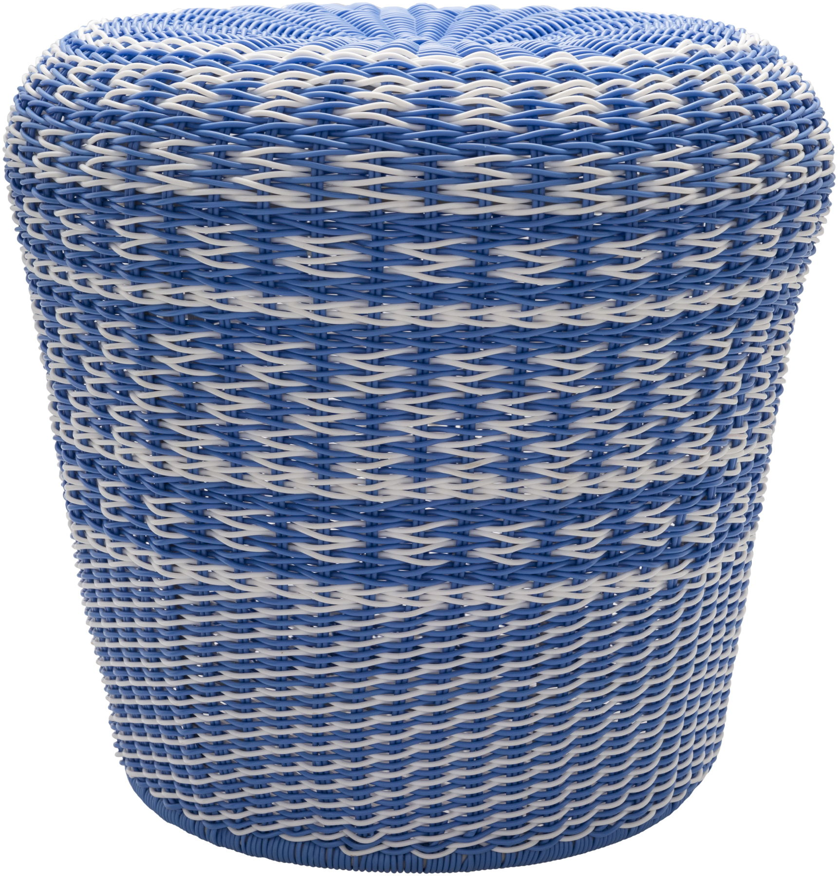 Miraculous Surya Parkdale Bright Blue White Polyethylene Ottoman Squirreltailoven Fun Painted Chair Ideas Images Squirreltailovenorg