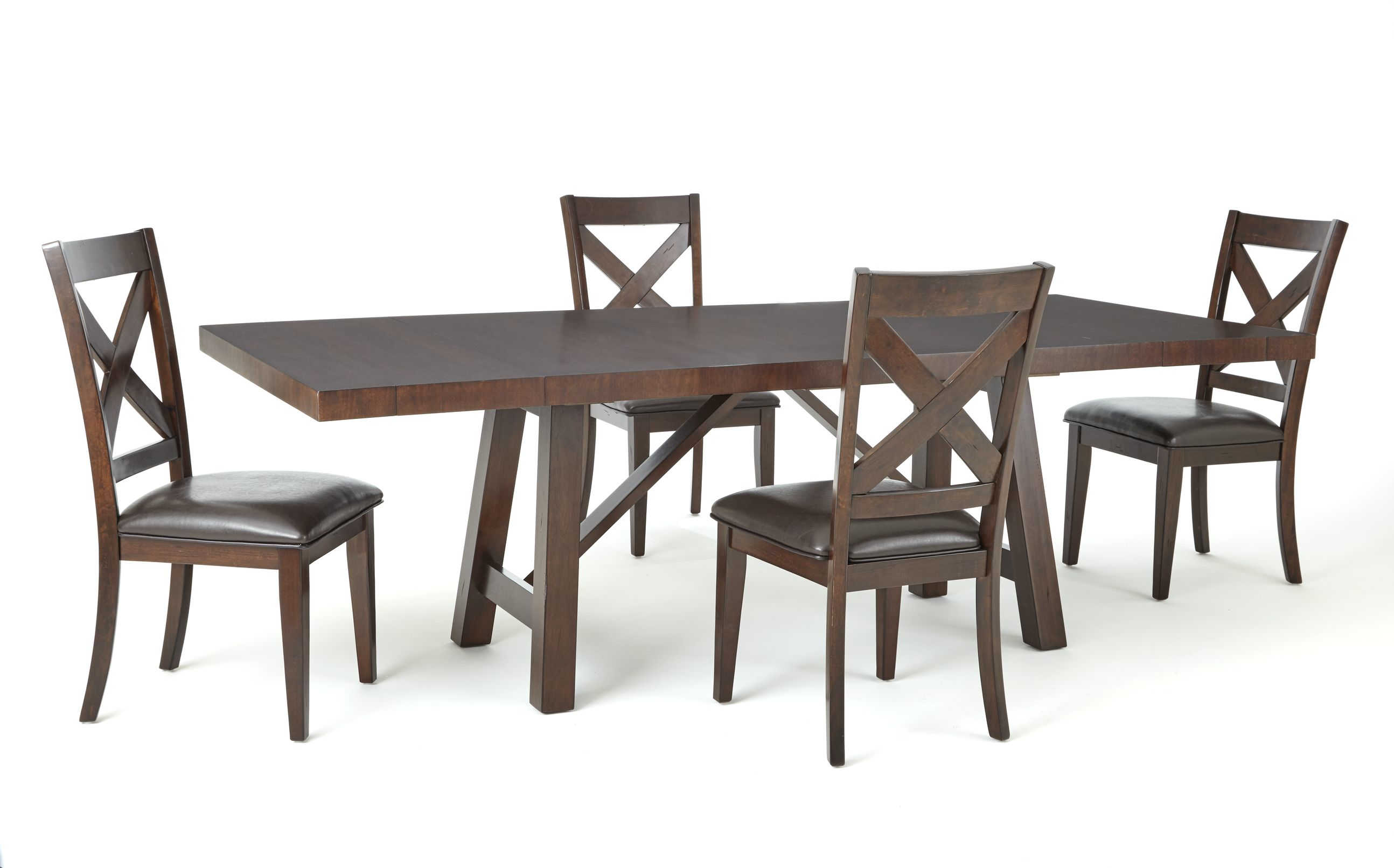 Steve Silver Clapton Warm Espresso 5pc Dining Room Set