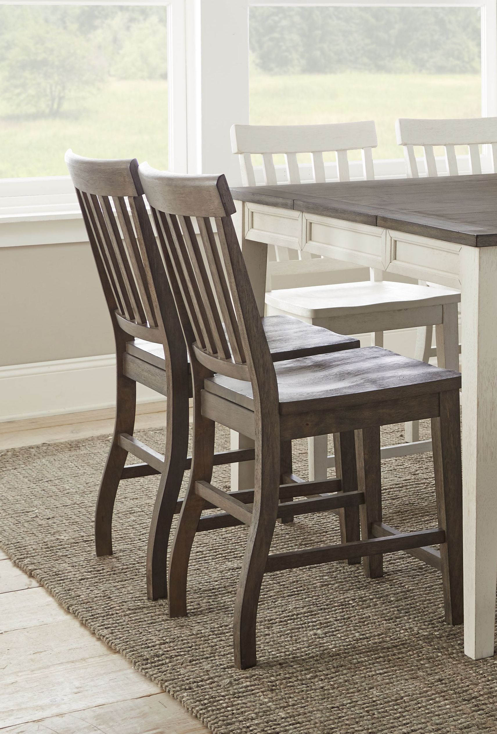 2 Steve Silver Cayla Dark Oak Counter Chairs The Classy Home