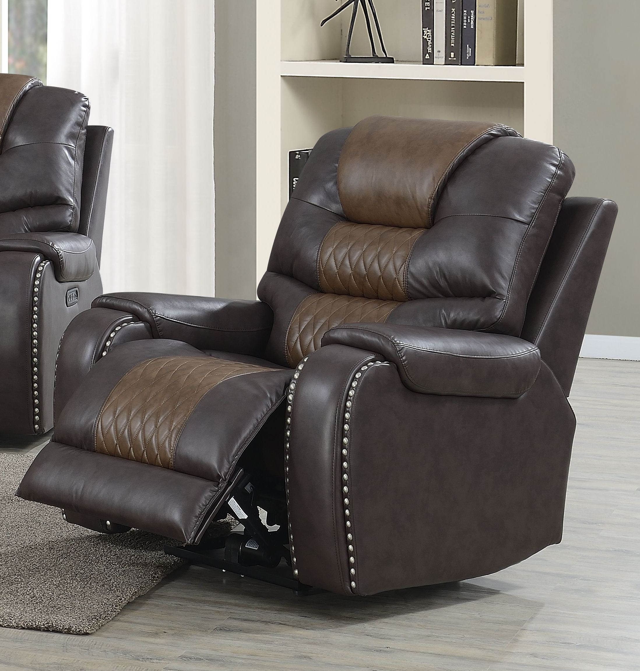 Enjoyable Steve Silver Park Avenue Brown Power Reclining Chair Ibusinesslaw Wood Chair Design Ideas Ibusinesslaworg