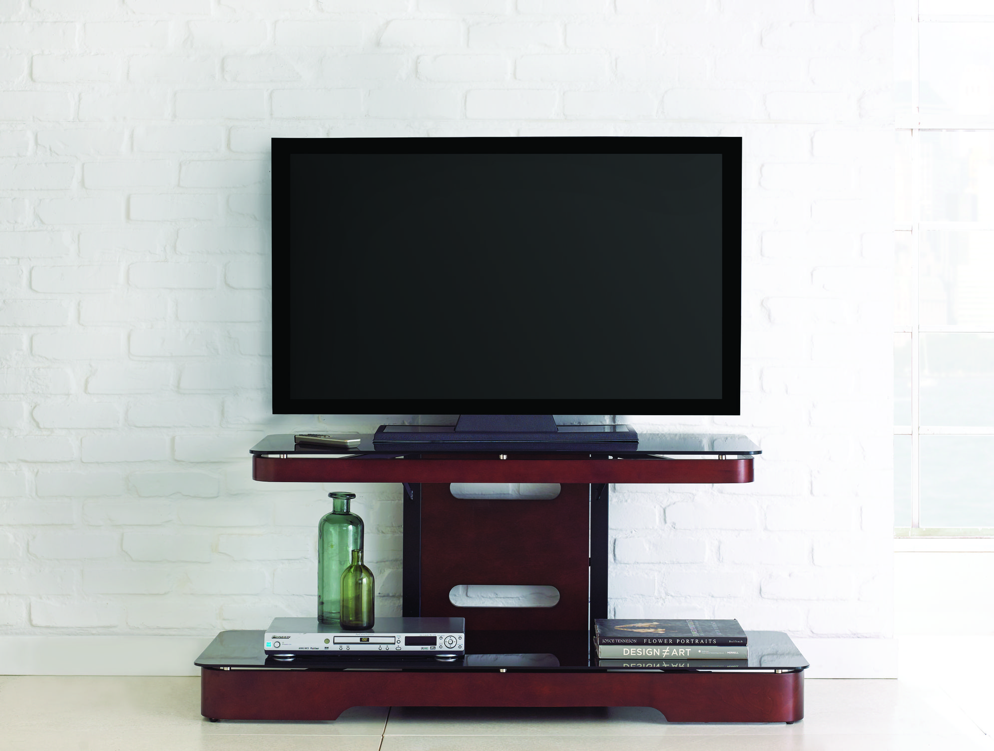 Steve Silver Kirkman Wood Tv Stand With Mounting Bracket The