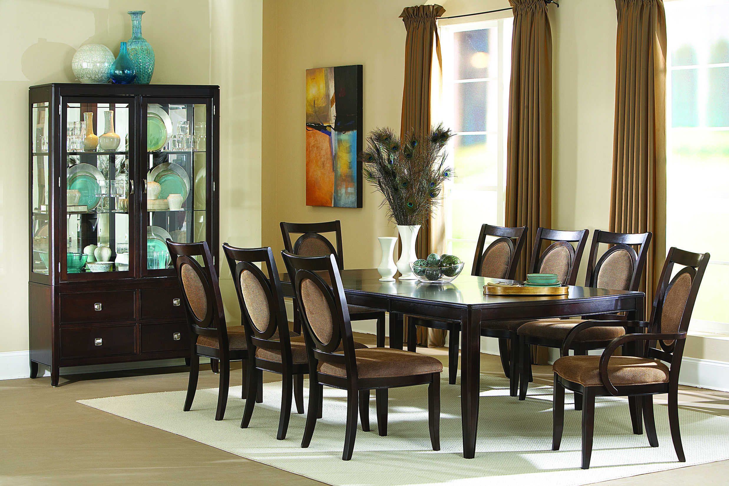 Steve Silver Montblanc 9pc Dining Room Set The Classy Home