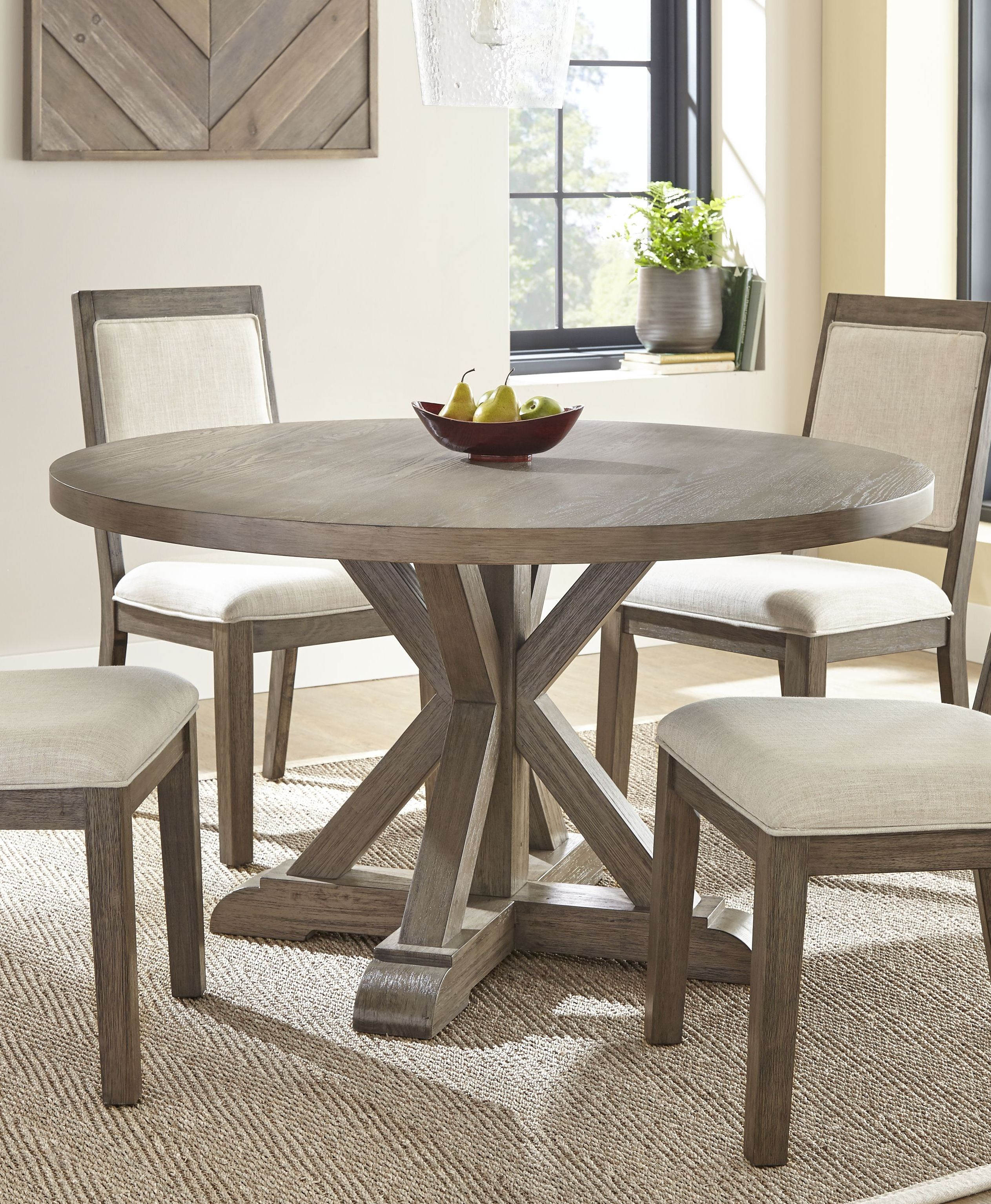 Steve Silver Molly Grey Washed Round Dining Table