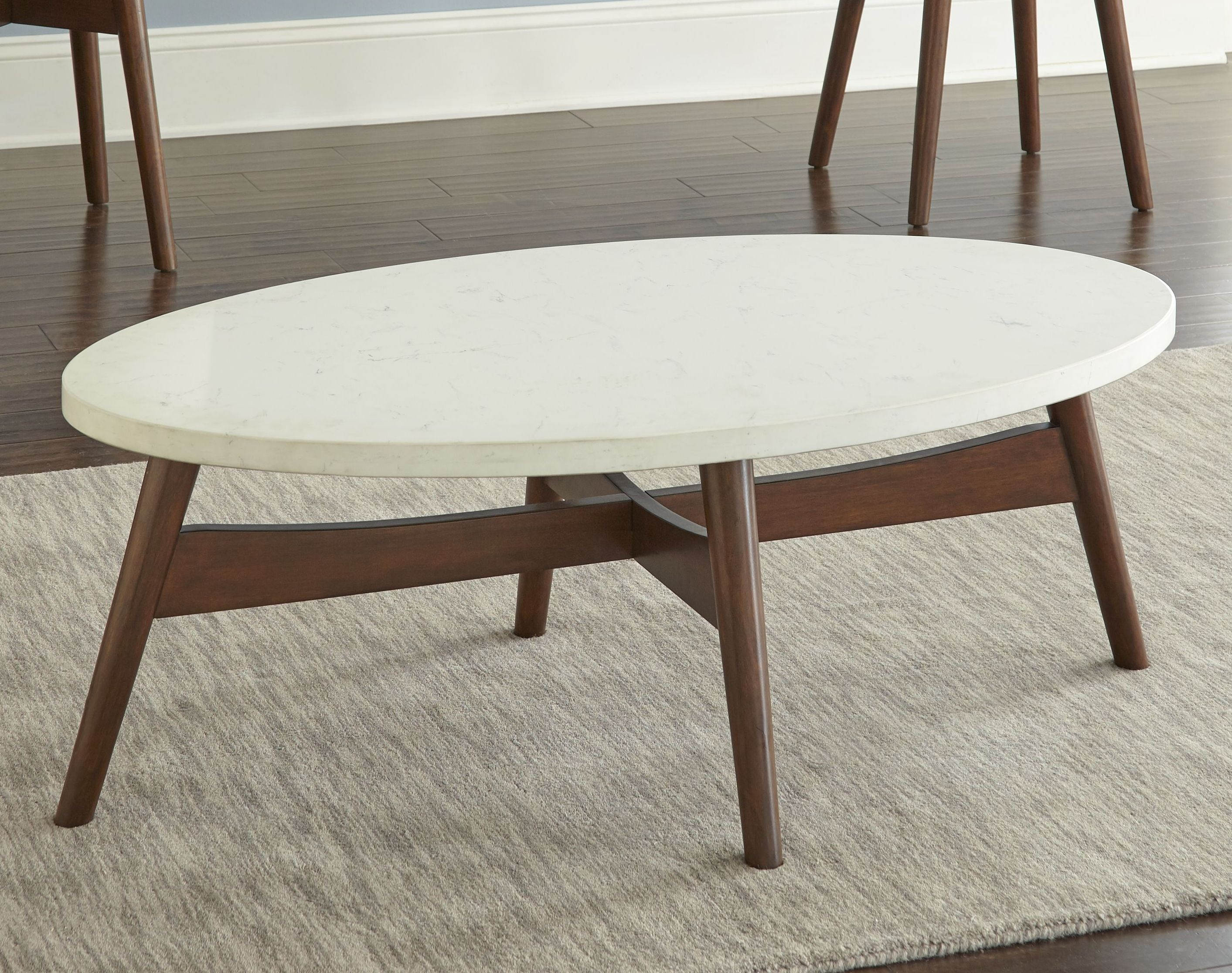 Cherry Coffee Table.Steve Silver Serena White Cherry Cocktail Table