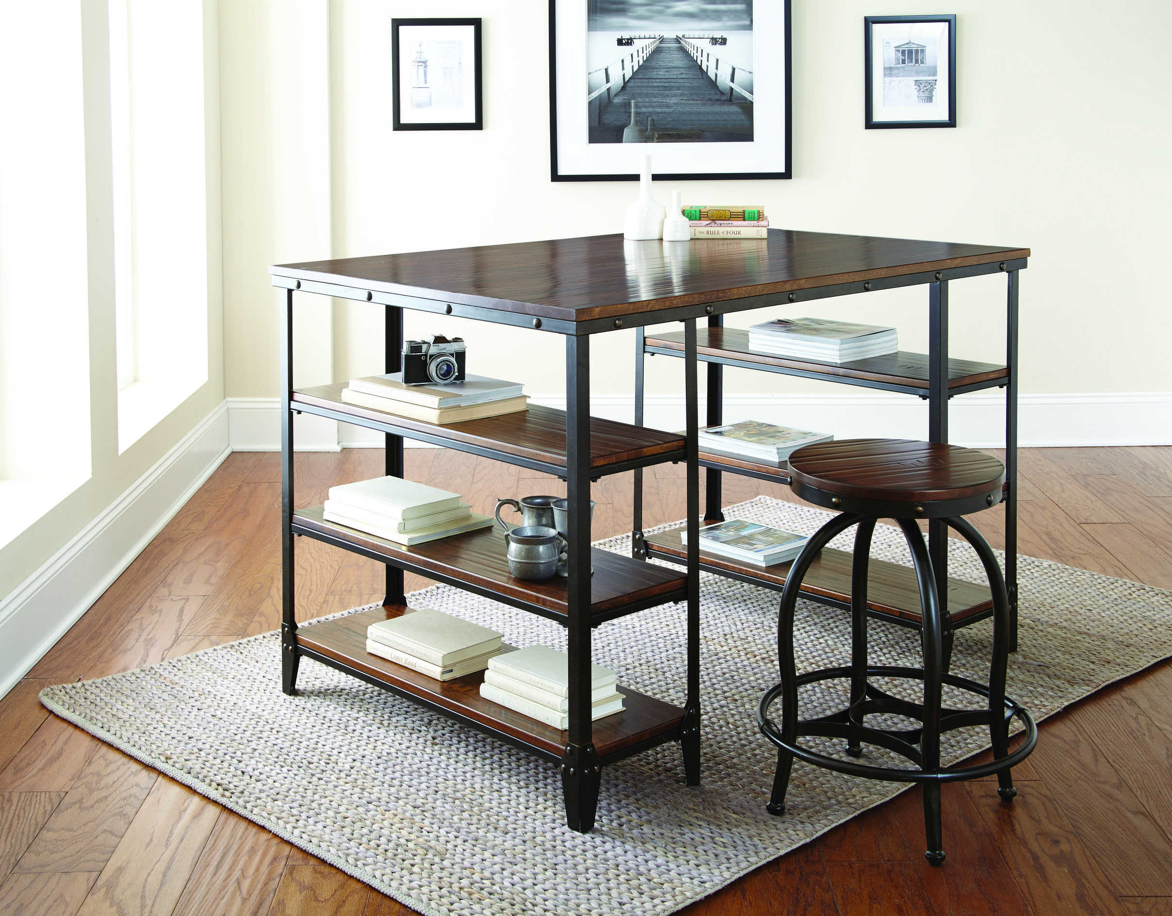 Steve Silver Winston Desk And Stool Set The Classy Home