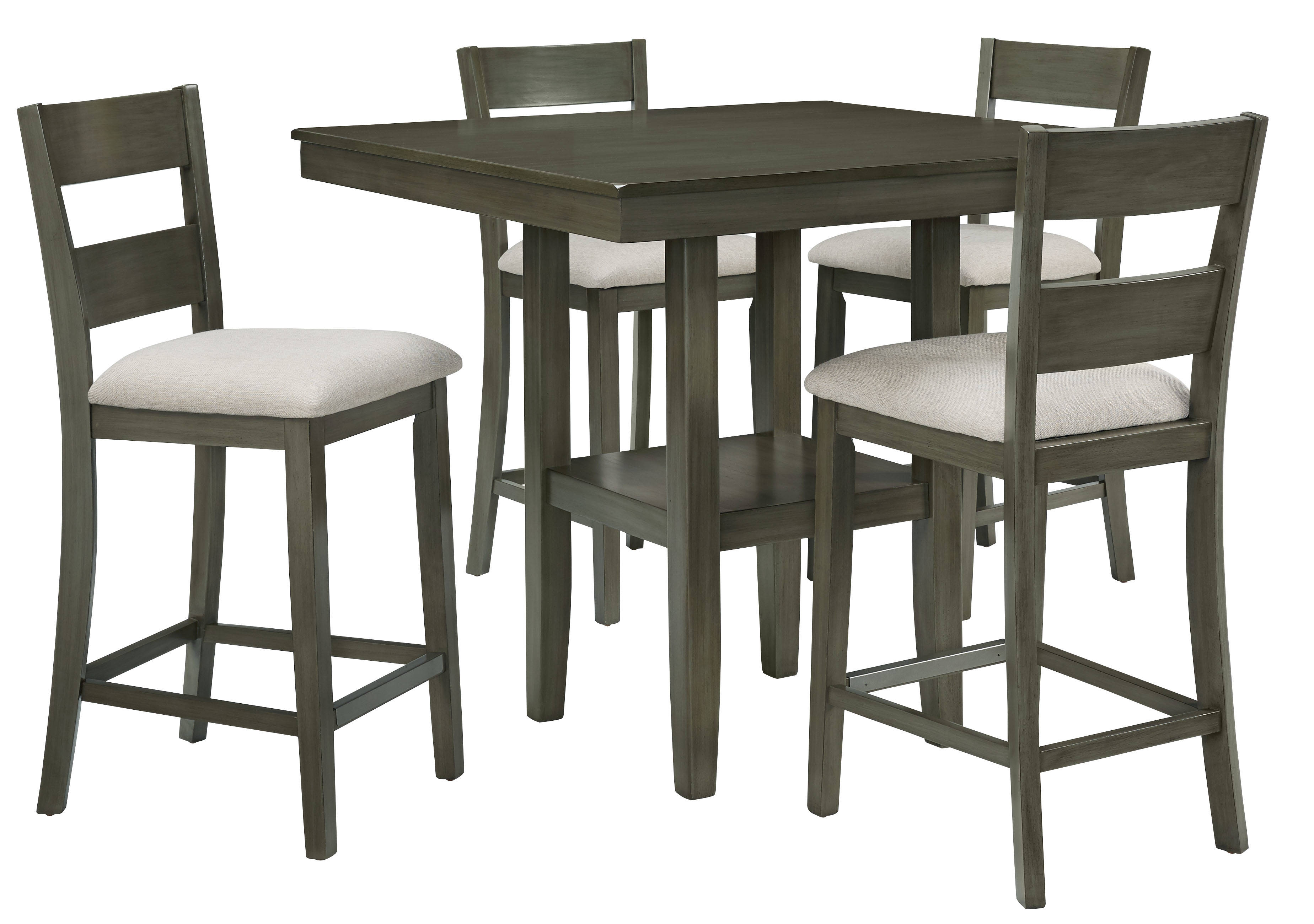 Standard Furniture Loft Grey 5pc Counter Height Set Click To Enlarge