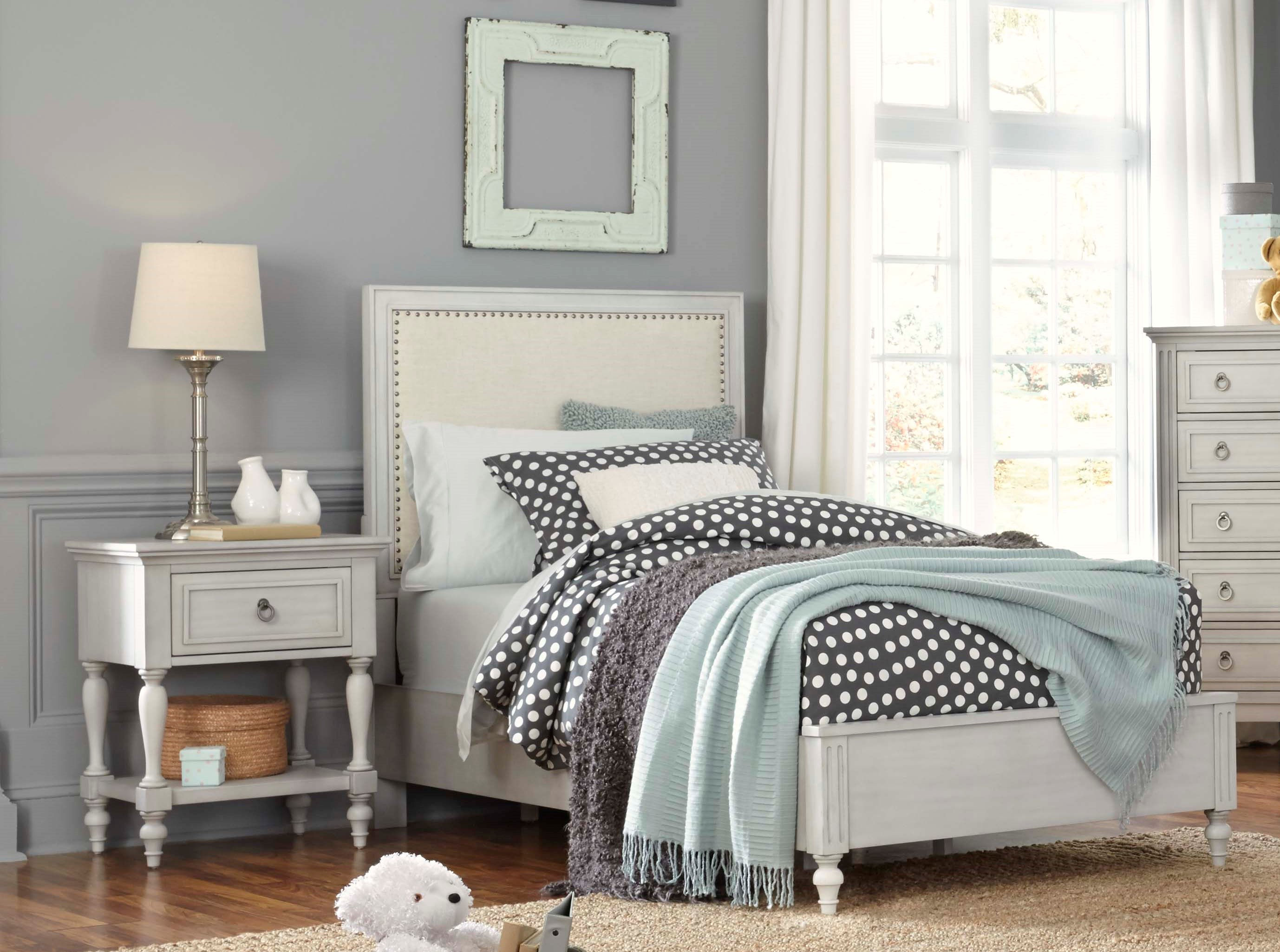 Standard Furniture Sarah White 2pc Bedroom Set with Twin Panel Bed