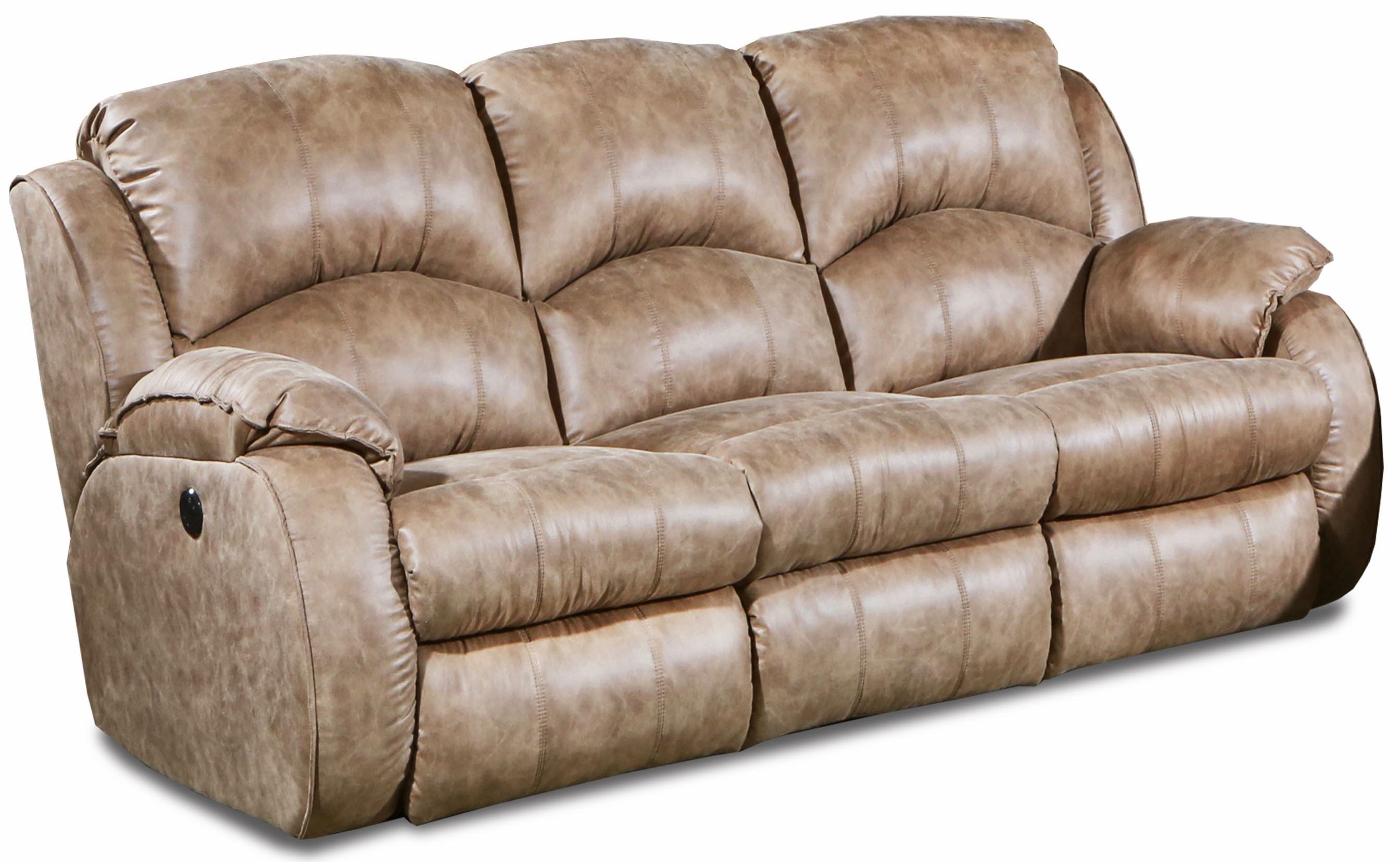 Southern Motion Cagney Brown Fabric Double Reclining Sofa