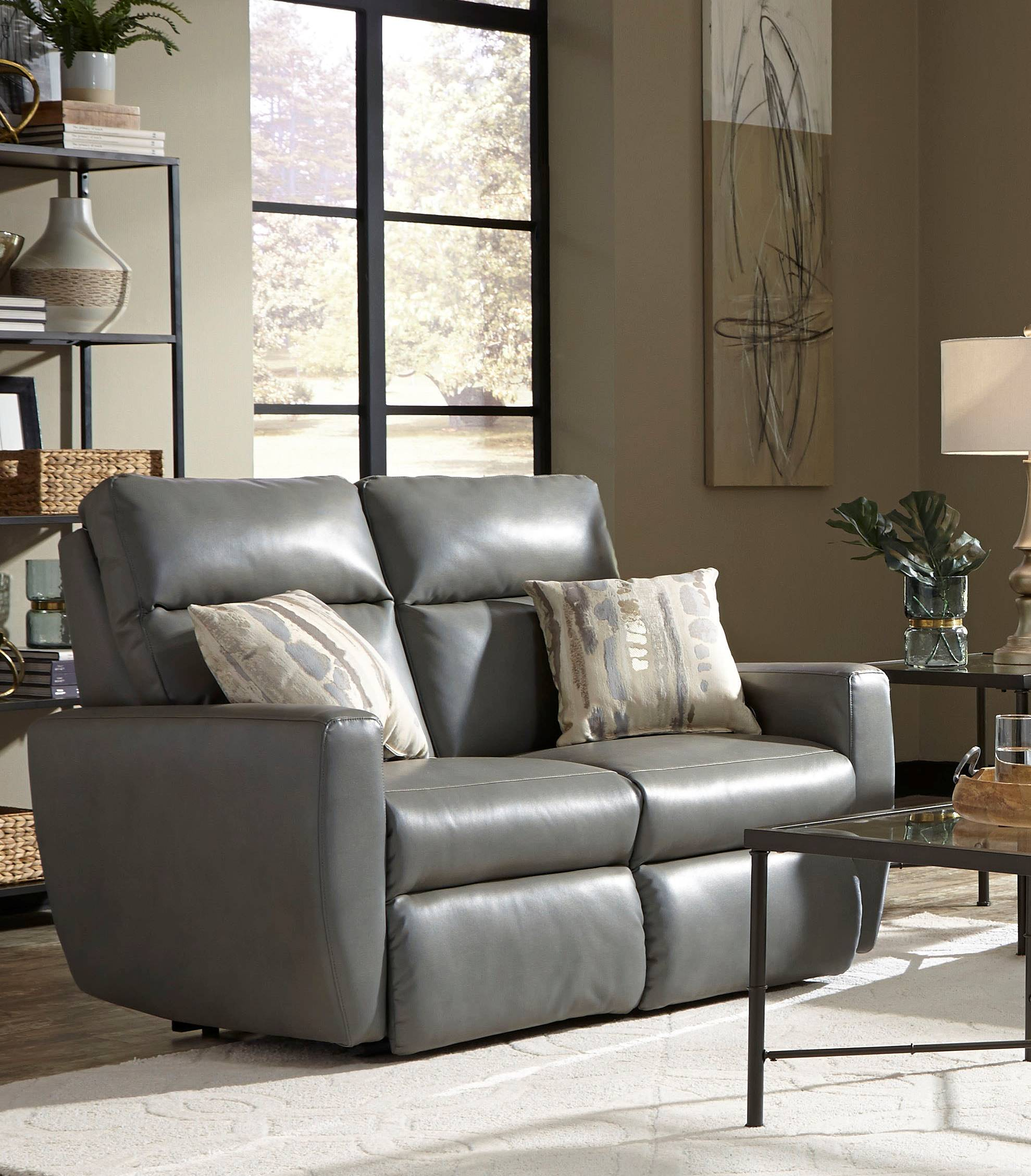 Super Southern Motion Knock Out Grey Power Double Reclining Loveseat Alphanode Cool Chair Designs And Ideas Alphanodeonline