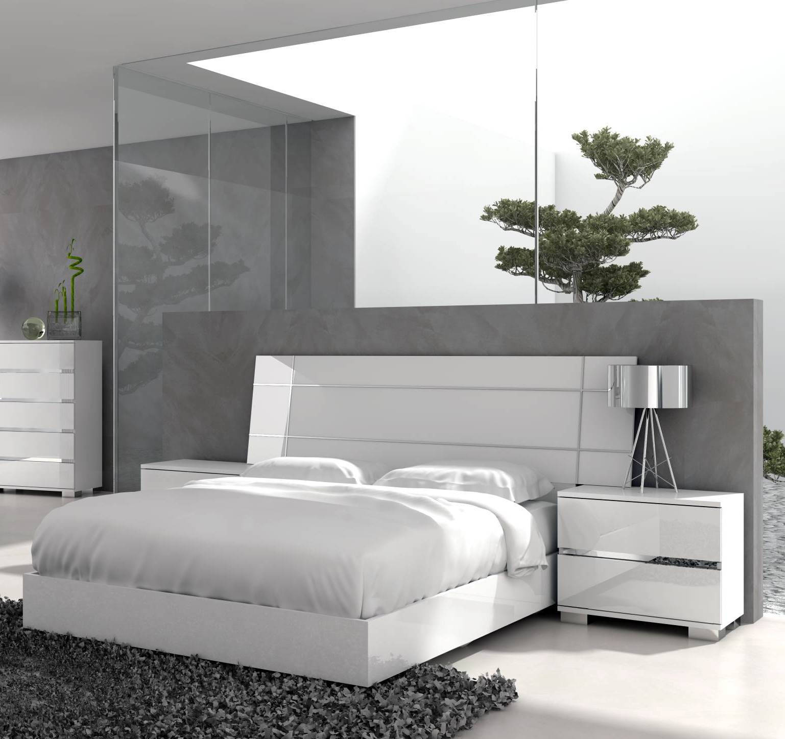 Star International Icon Gloss White 2pc Bedroom Set with King Bed