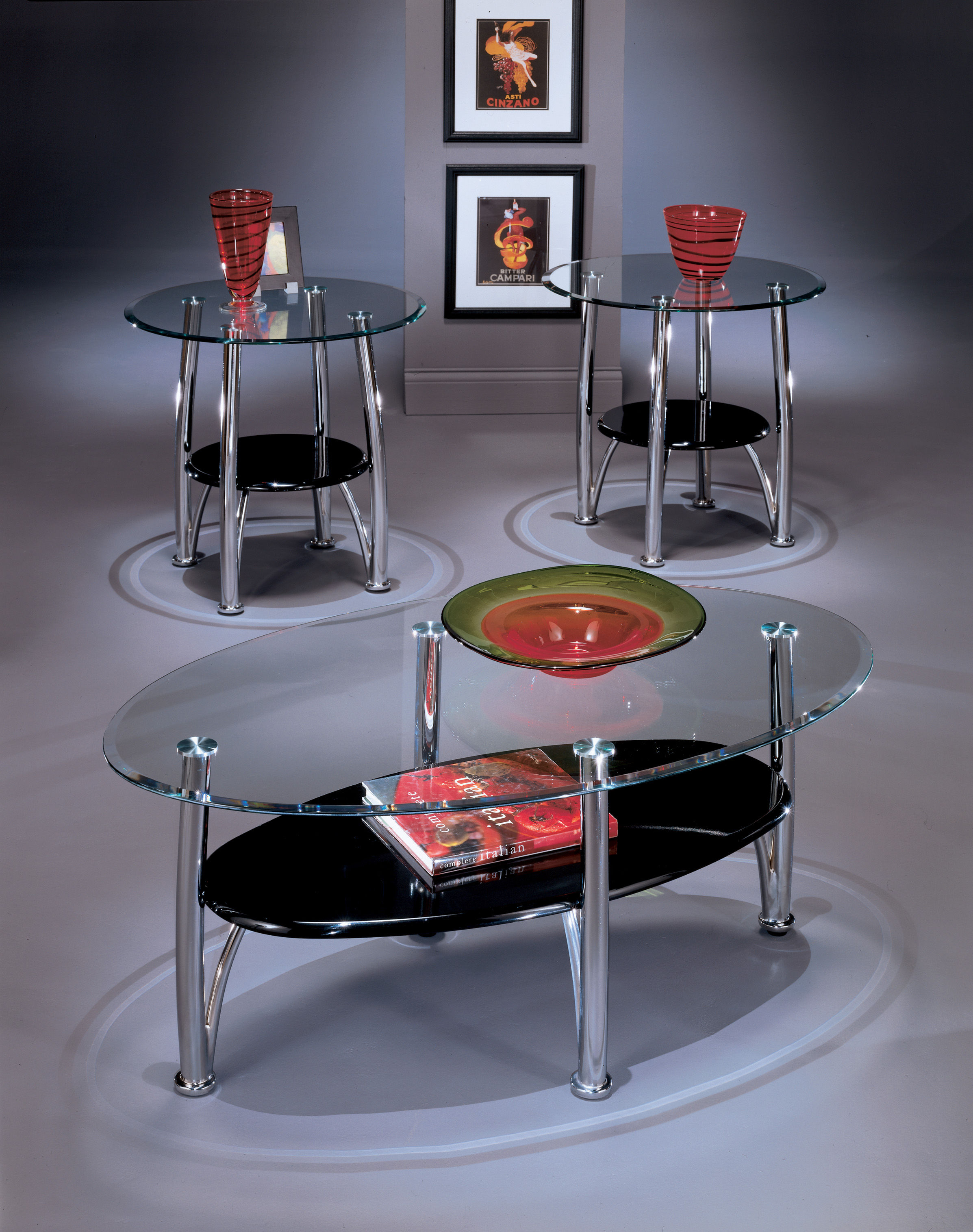 Ashley Furniture Dempsey Black 3pc Coffee Table Set The Classy Home