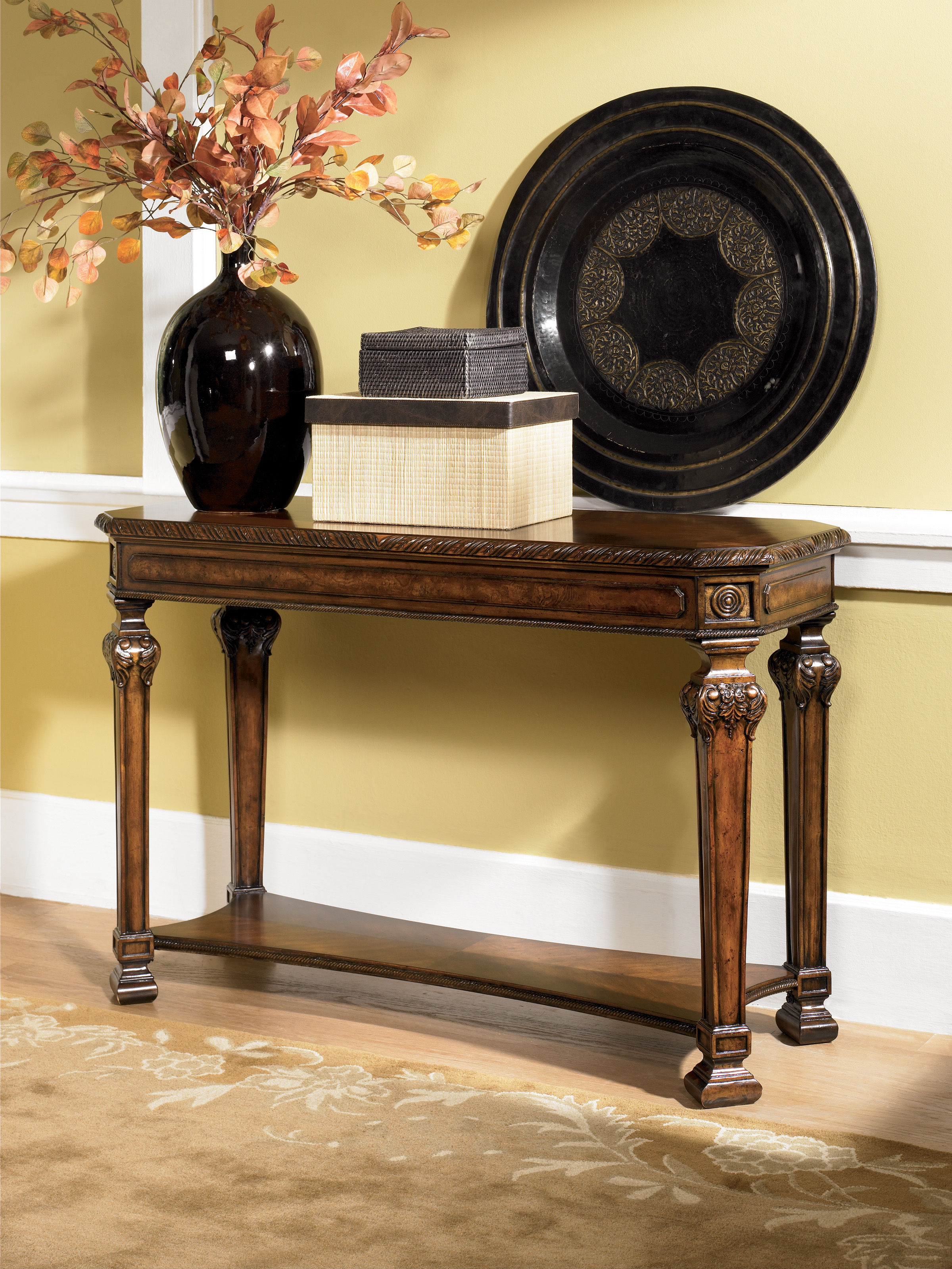 Marvelous Old World Sofa Table The Classy Home Machost Co Dining Chair Design Ideas Machostcouk