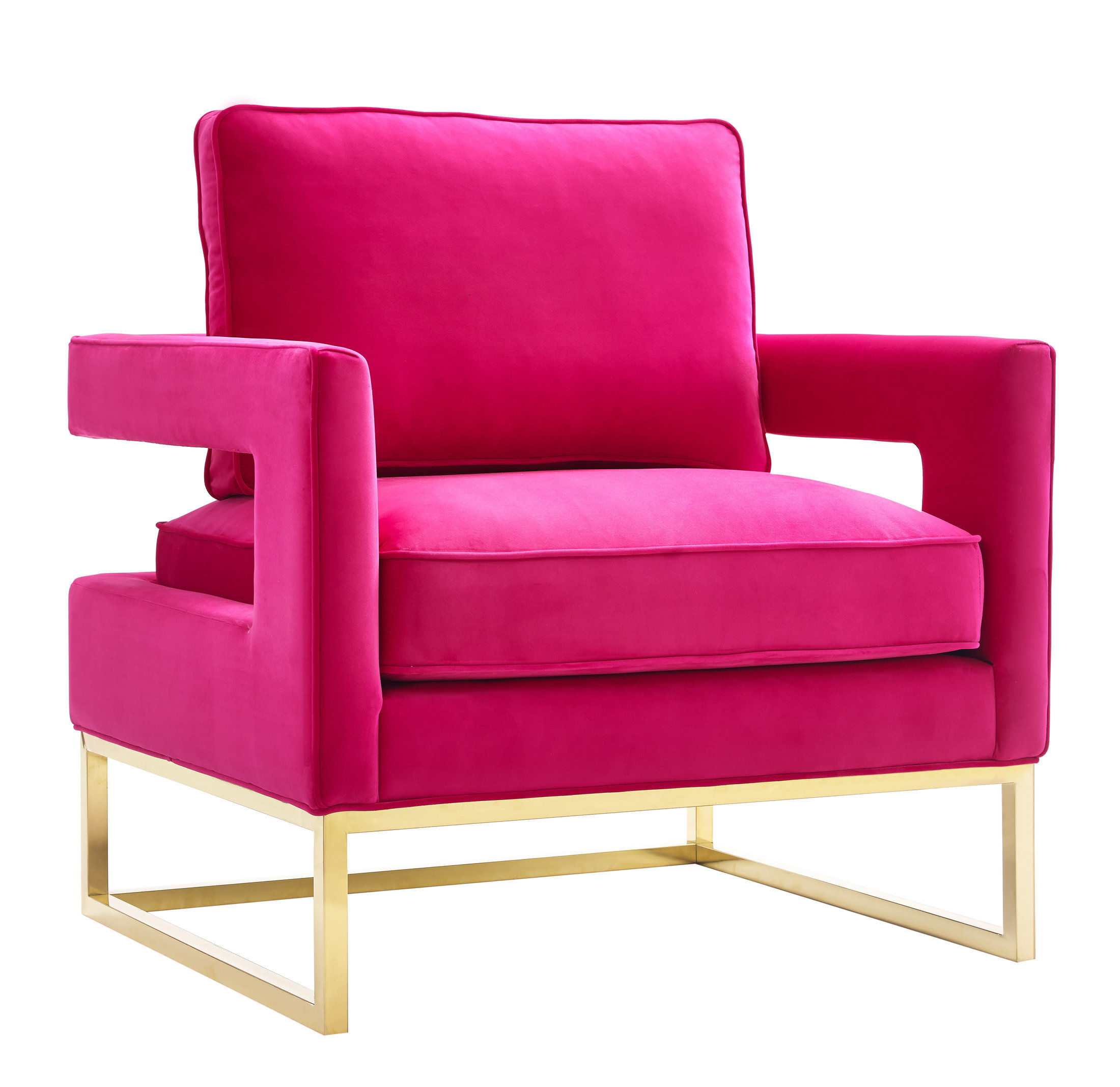 Tov Furniture Avery Pink Velvet Chair The Classy Home