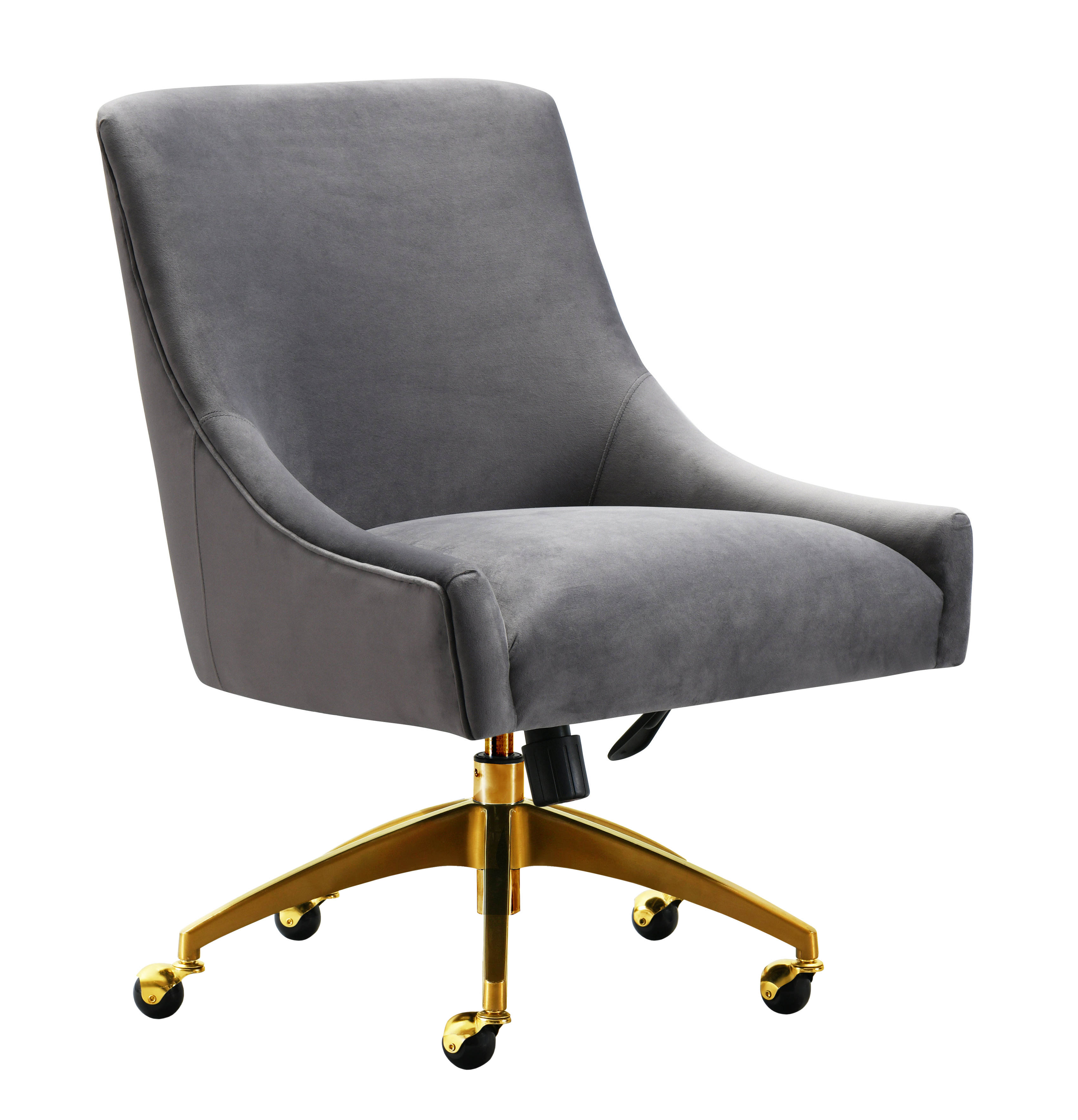 Tov Furniture Beatrix Grey Gold Swivel Office Chair Click To Enlarge