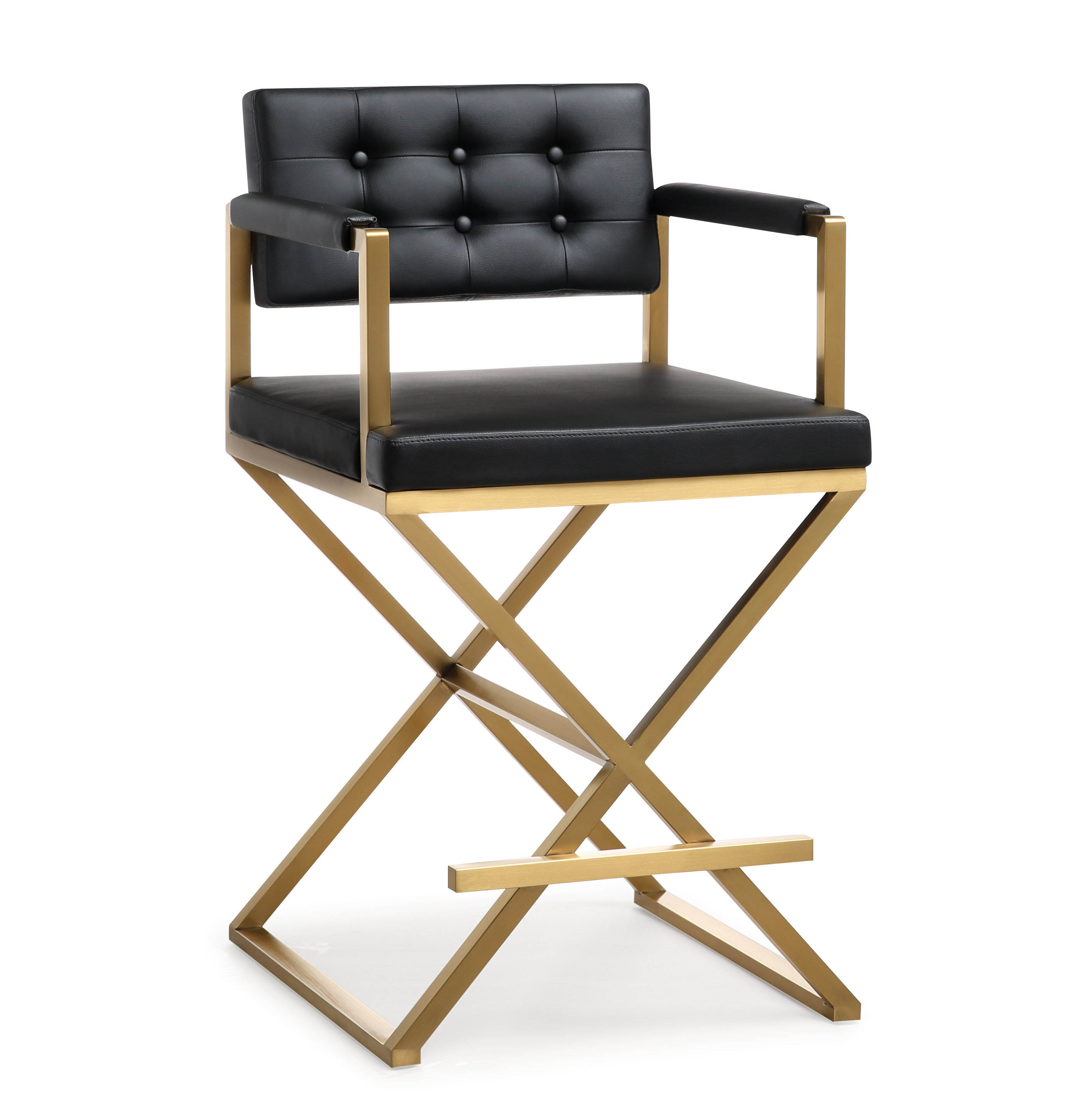 Swell Tov Furniture Mod Black Gold Director Counter Stool Unemploymentrelief Wooden Chair Designs For Living Room Unemploymentrelieforg