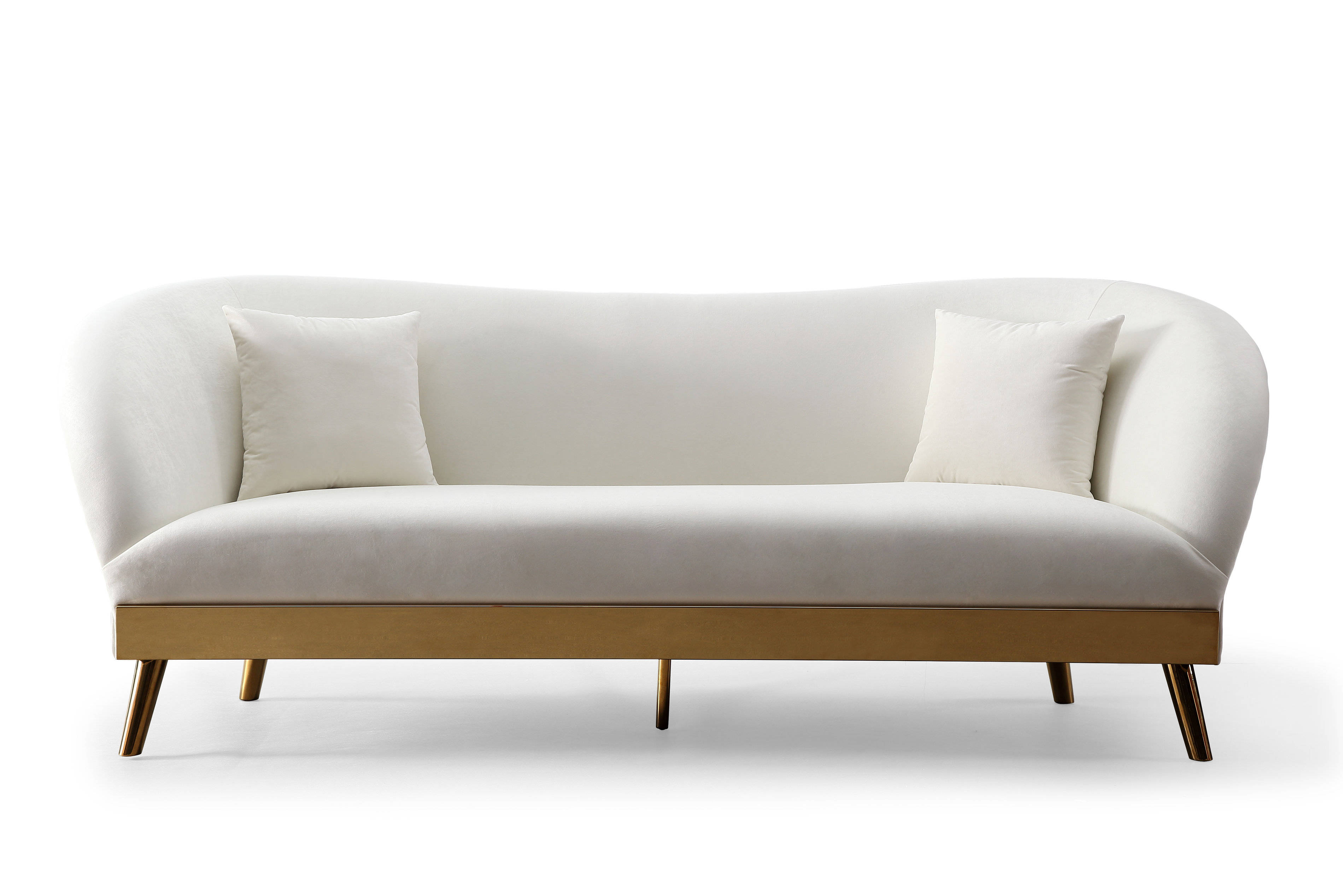 Tov Furniture Chloe Cream Velvet Sofa The Classy Home