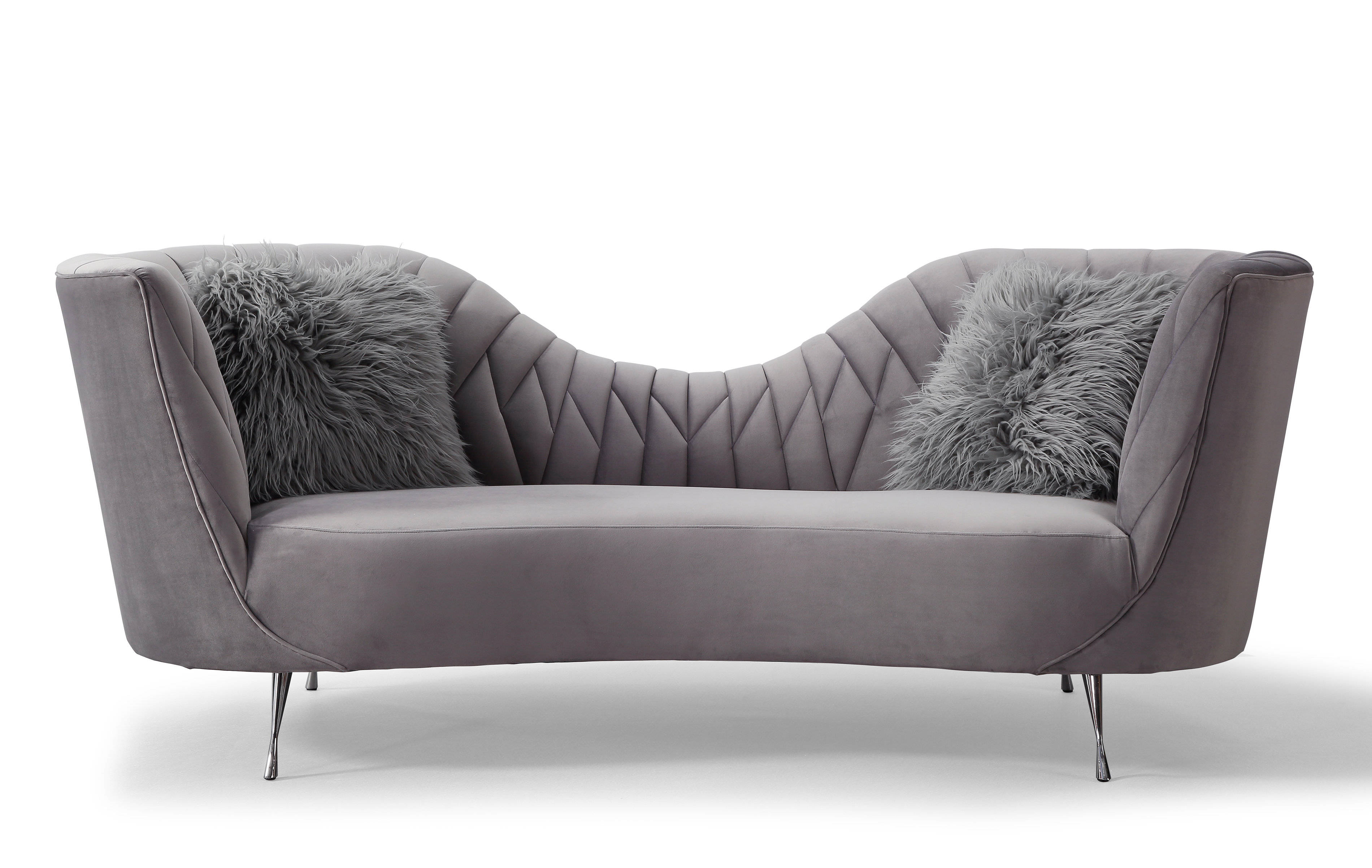 Tov Furniture Eva Grey Velvet Sofa The Classy Home