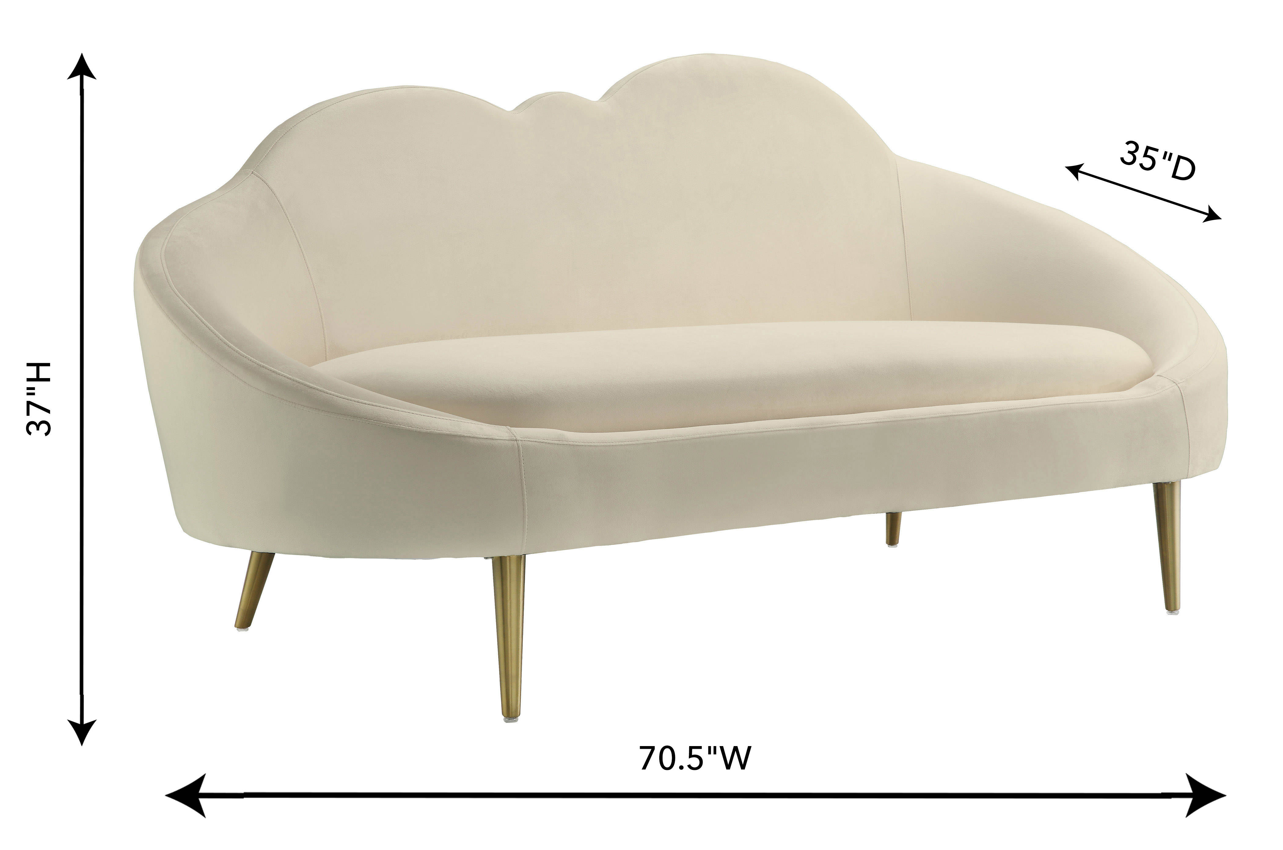Prime Tov Furniture Cloud Cream Gold Velvet Settee Andrewgaddart Wooden Chair Designs For Living Room Andrewgaddartcom
