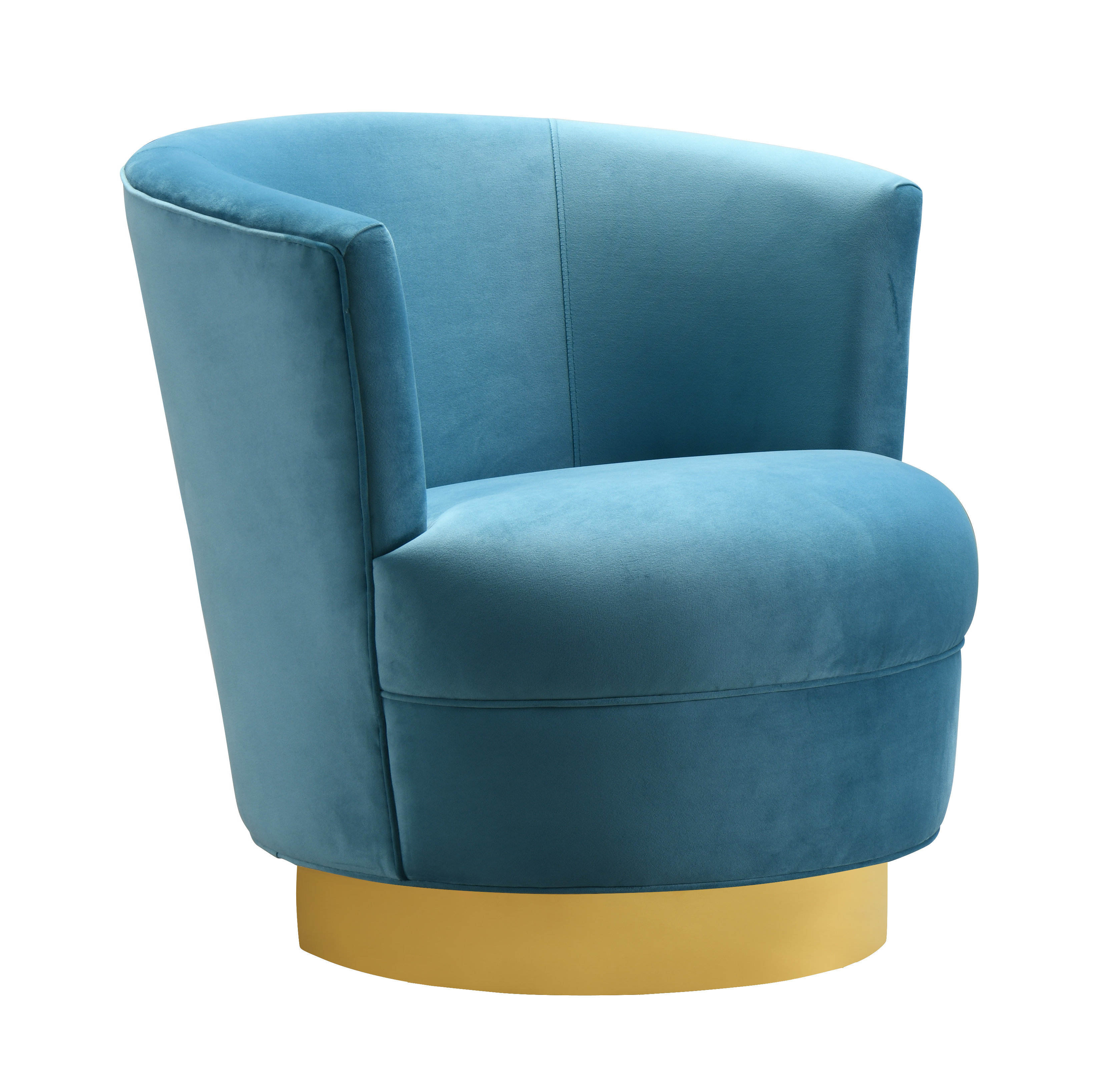 Amazing Tov Furniture Noah Lake Blue Gold Swivel Chair Unemploymentrelief Wooden Chair Designs For Living Room Unemploymentrelieforg