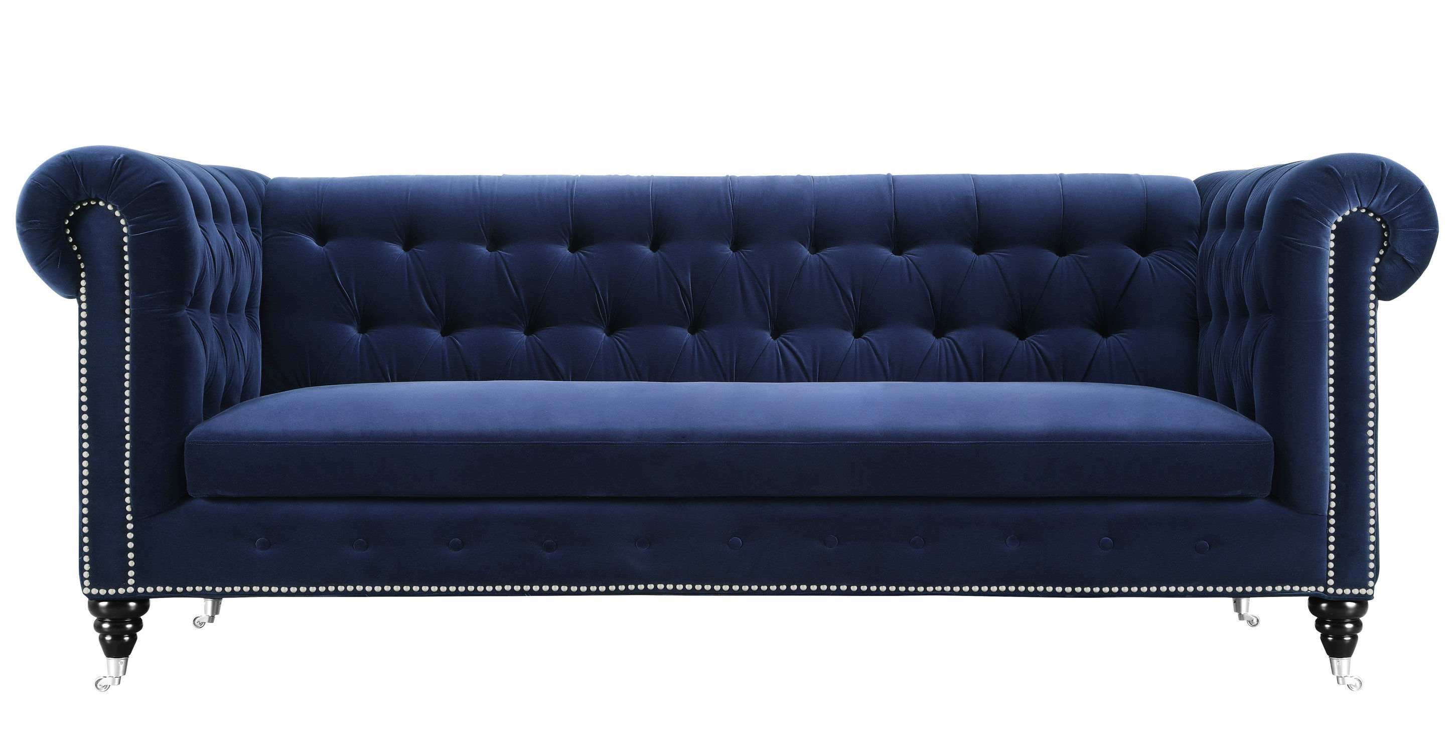 Outstanding Tov Furniture Hanny Navy Blue Velvet Sofa Onthecornerstone Fun Painted Chair Ideas Images Onthecornerstoneorg