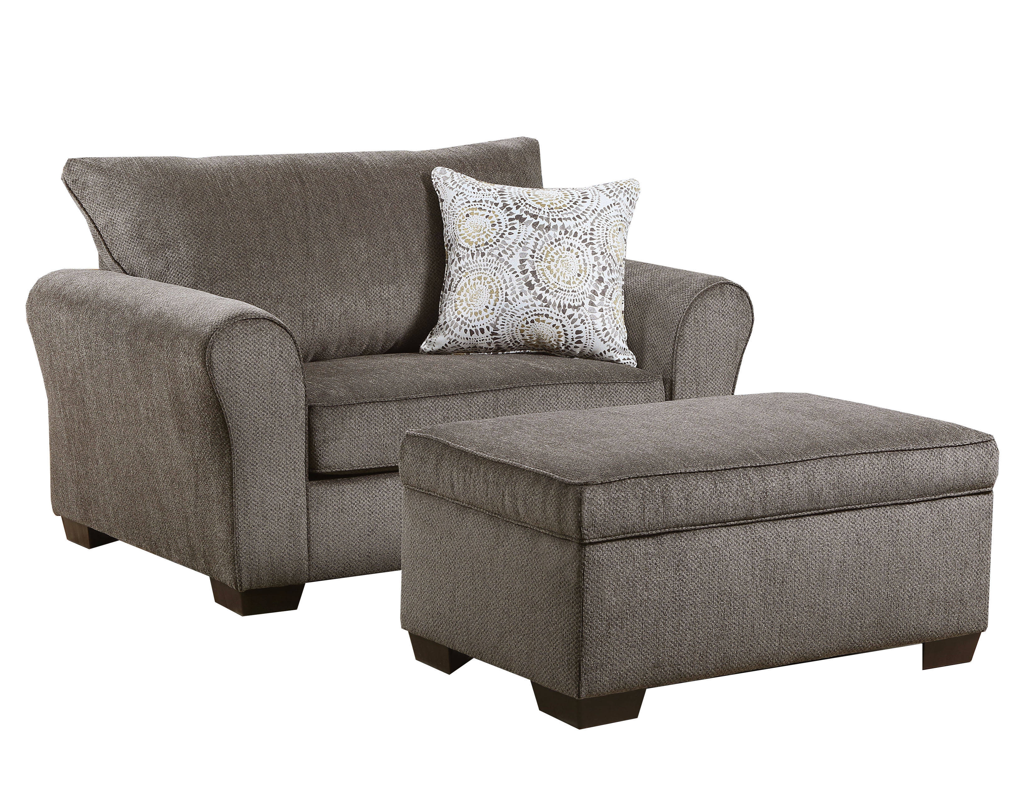 United Furniture Harlow Ash Chair And Ottoman Set The