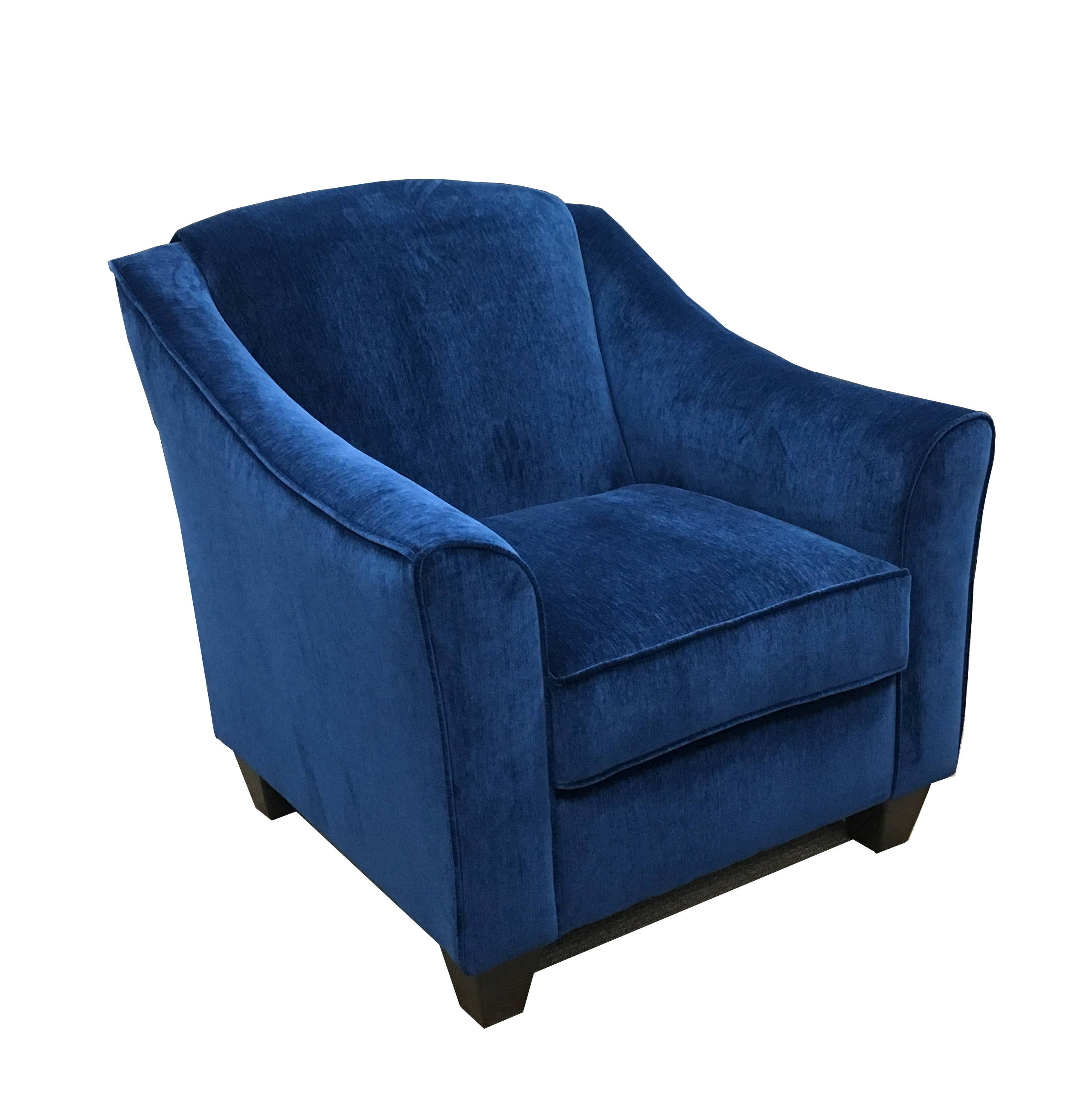 Simmons Venice Sapphire Fabric Hardwood Cushion Back Accent Chair