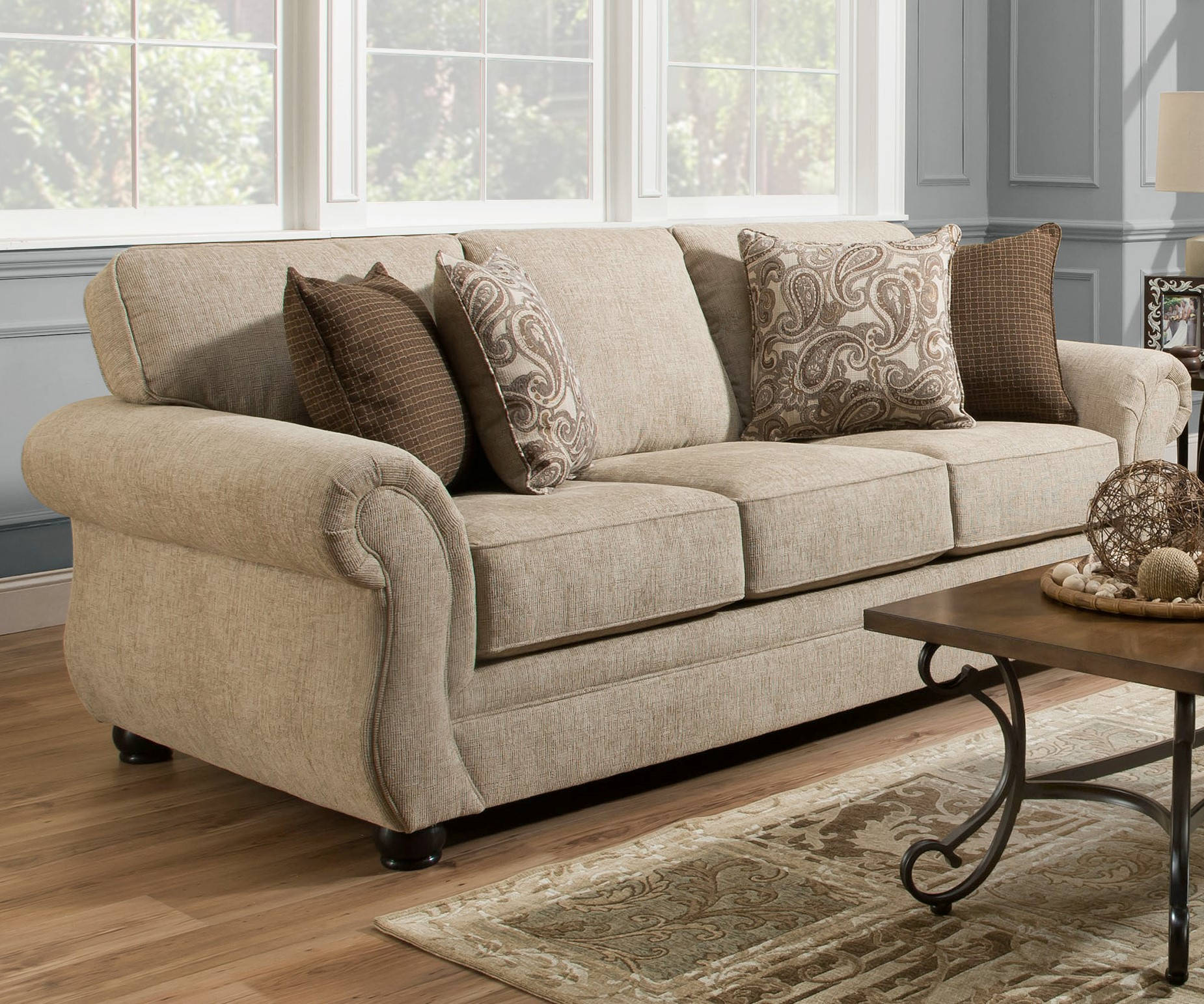 Simmons Sleeper Sofa: United Furniture Simmons Queen Sleeper Sofa