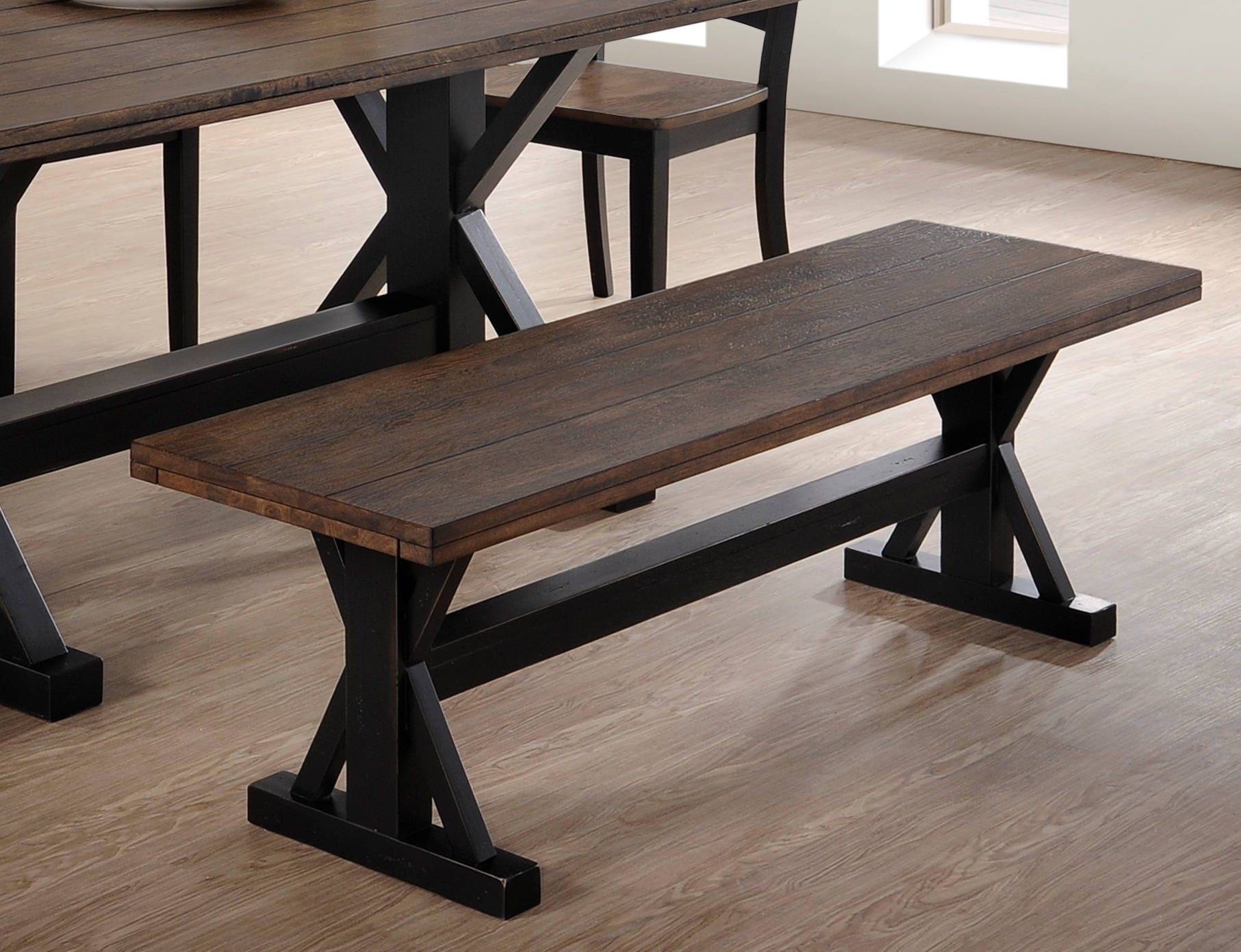 Cool United Furniture Lexington Oak Dining Bench Theyellowbook Wood Chair Design Ideas Theyellowbookinfo