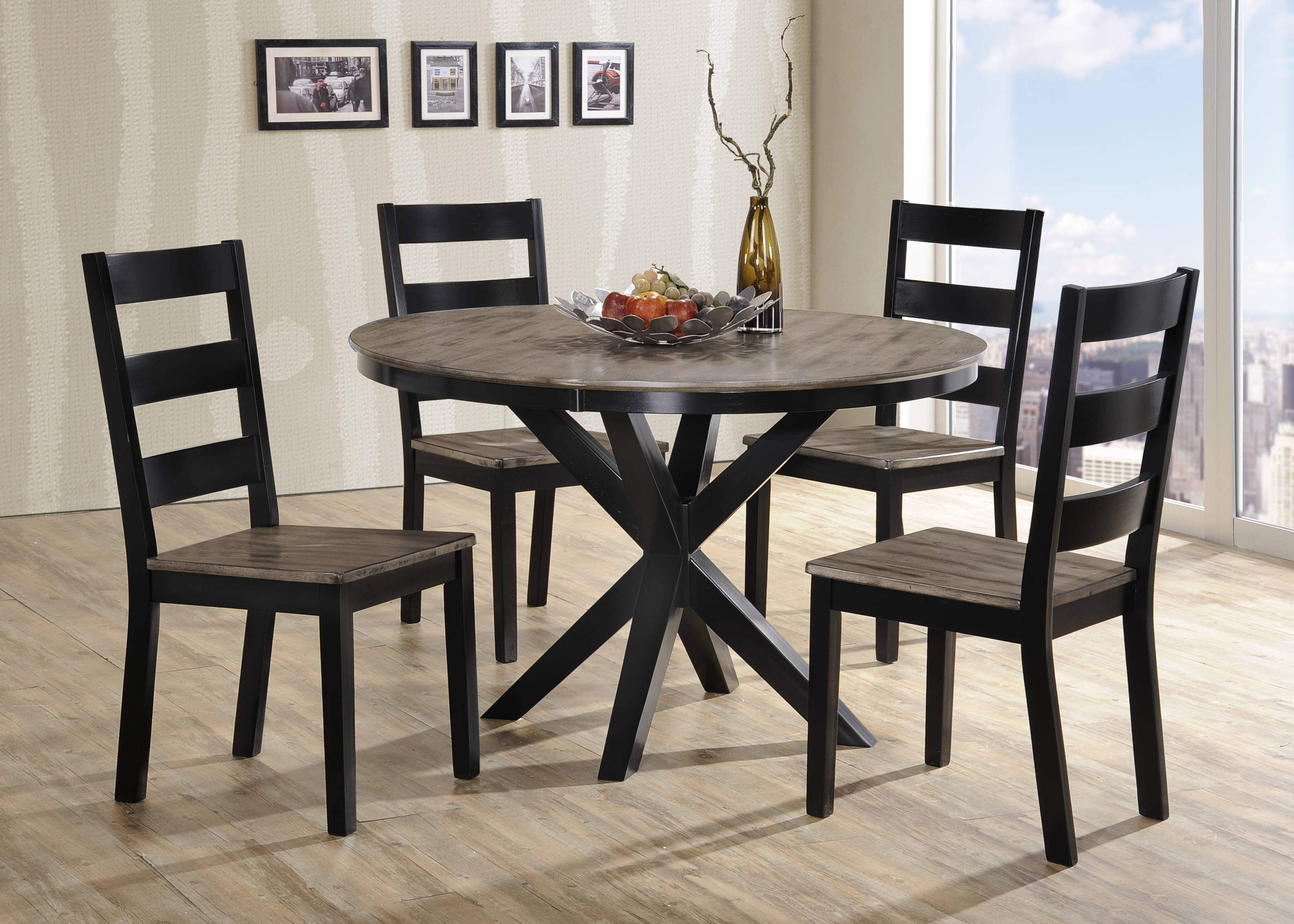 united furniture south beach grey 5pc dining room set the classy home. Black Bedroom Furniture Sets. Home Design Ideas