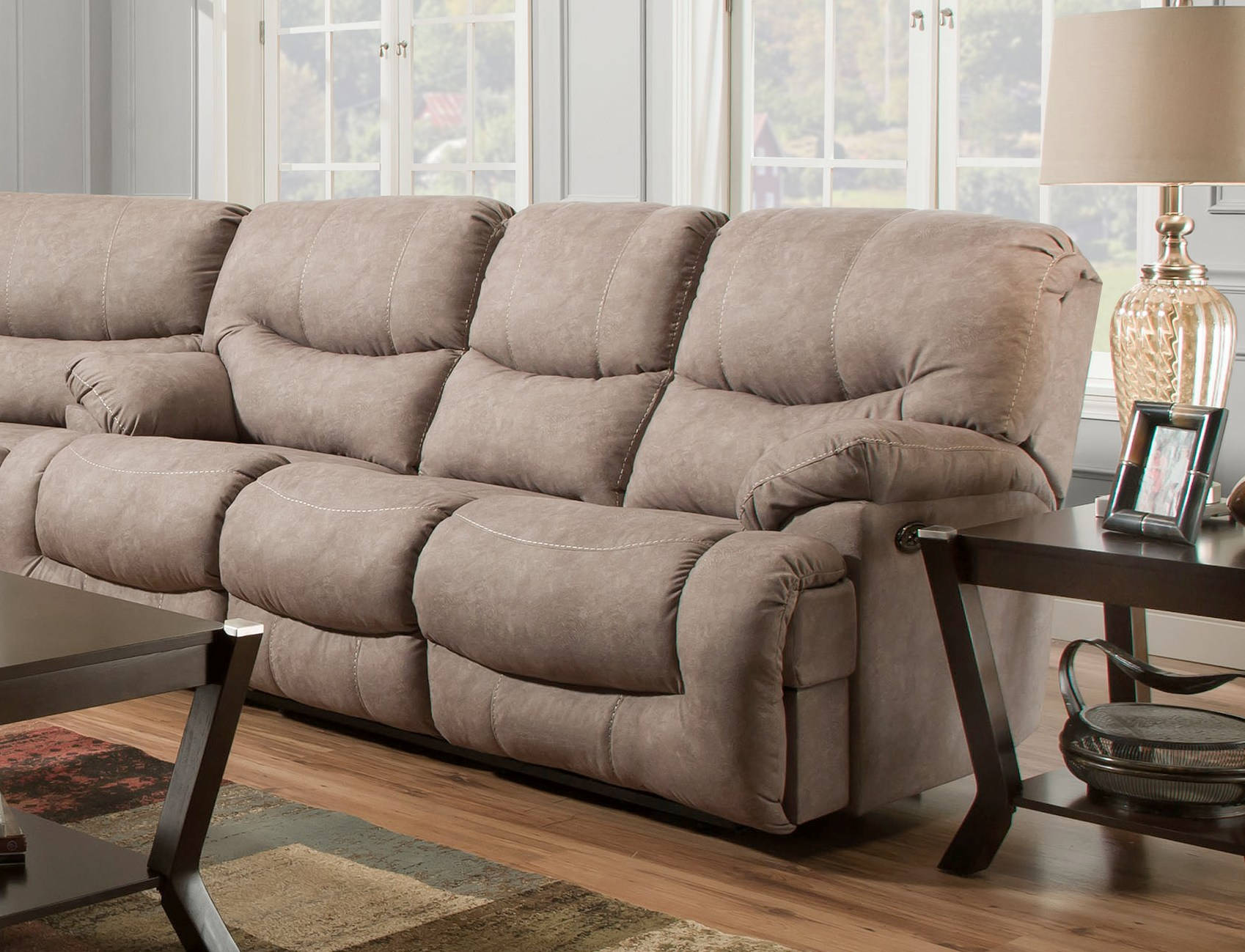 United furniture simmons palermo shale double motion sofa for Shale sofa bed