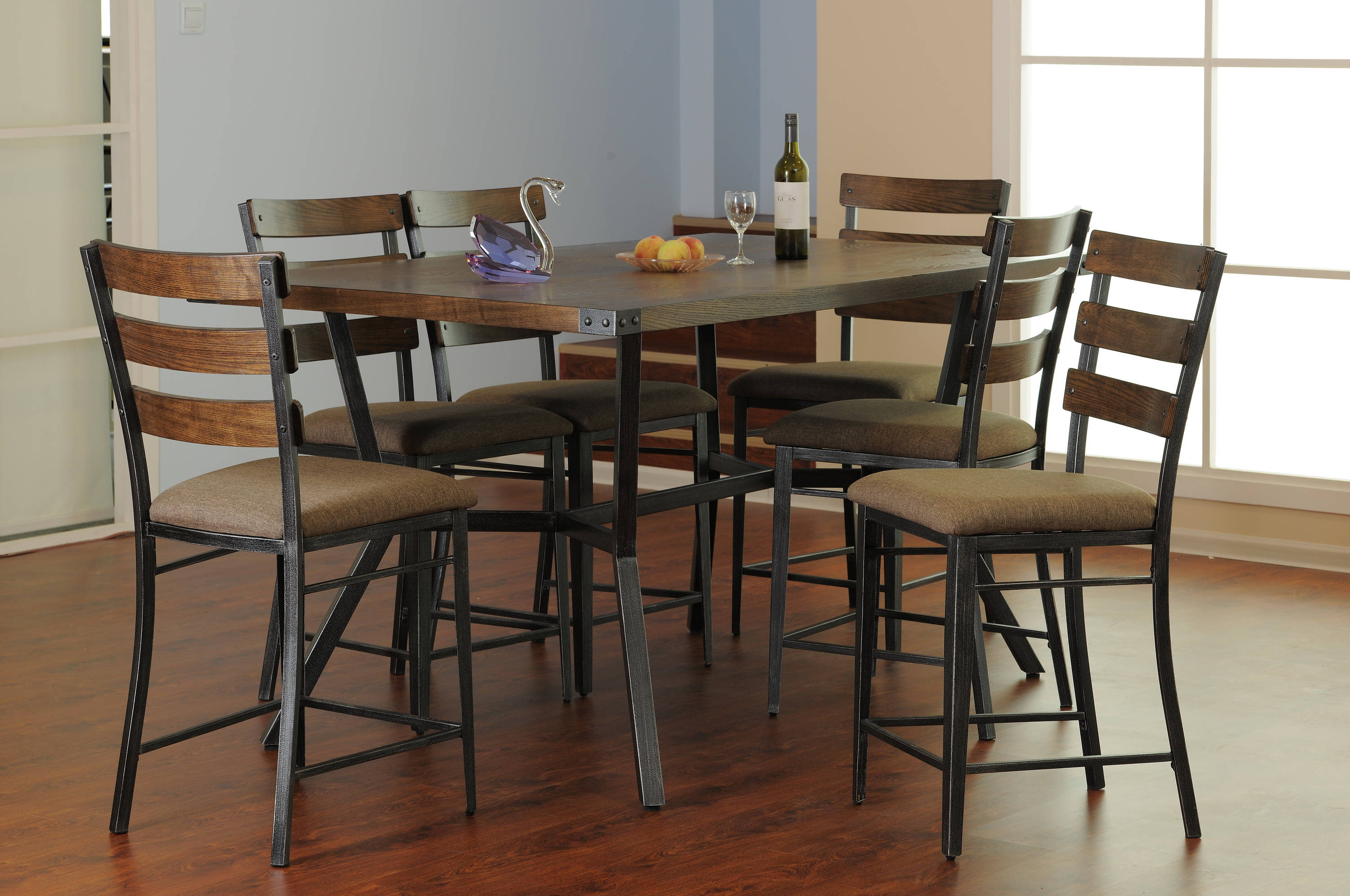 New. Hot Deal. Deal Of Day. Daily Deal. Discontinued. United Furniture  Hudson Oak 7pc Counter Height Set