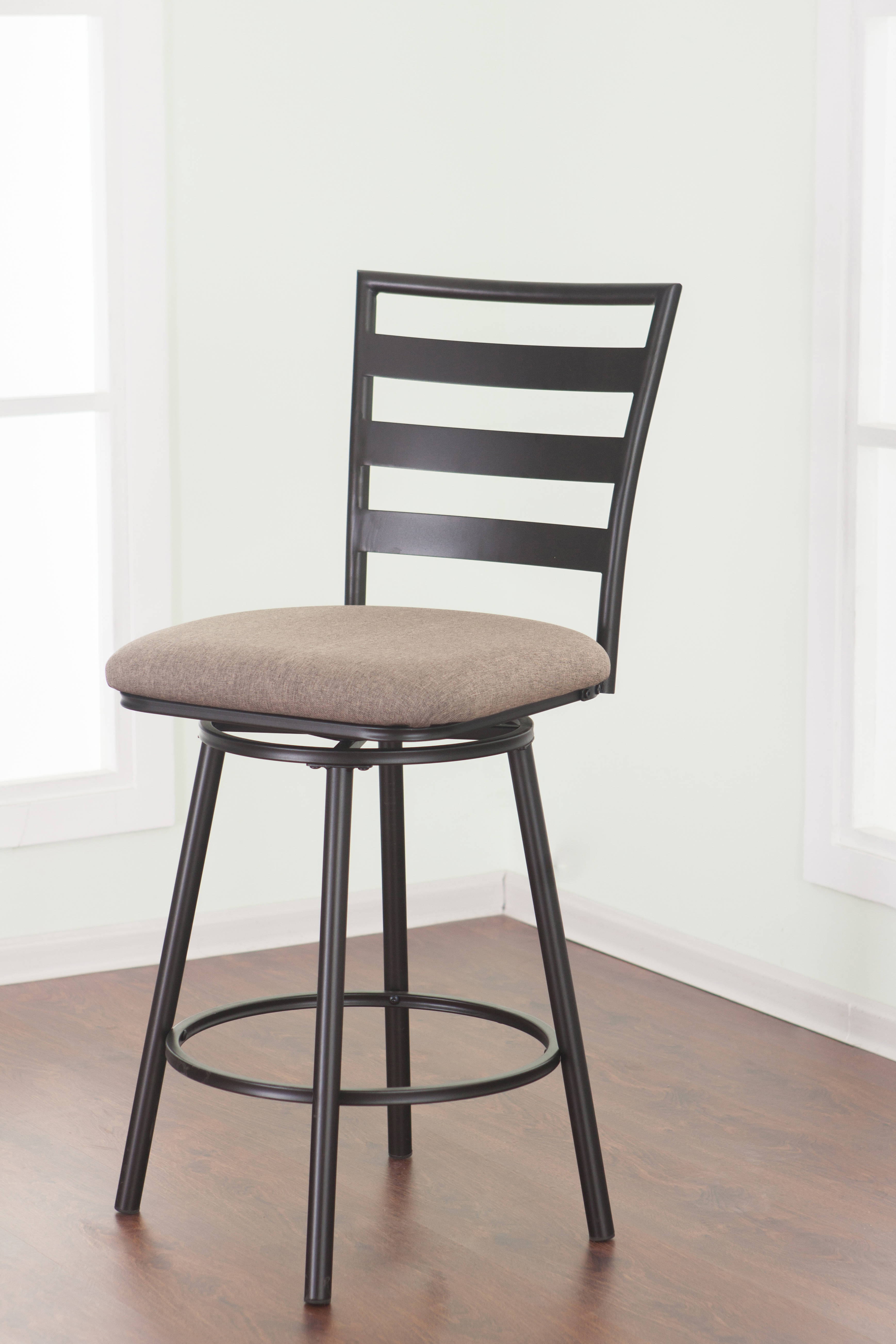 United Furniture Jordan Cherry Charcoal 25 Inch Counter Height Stool
