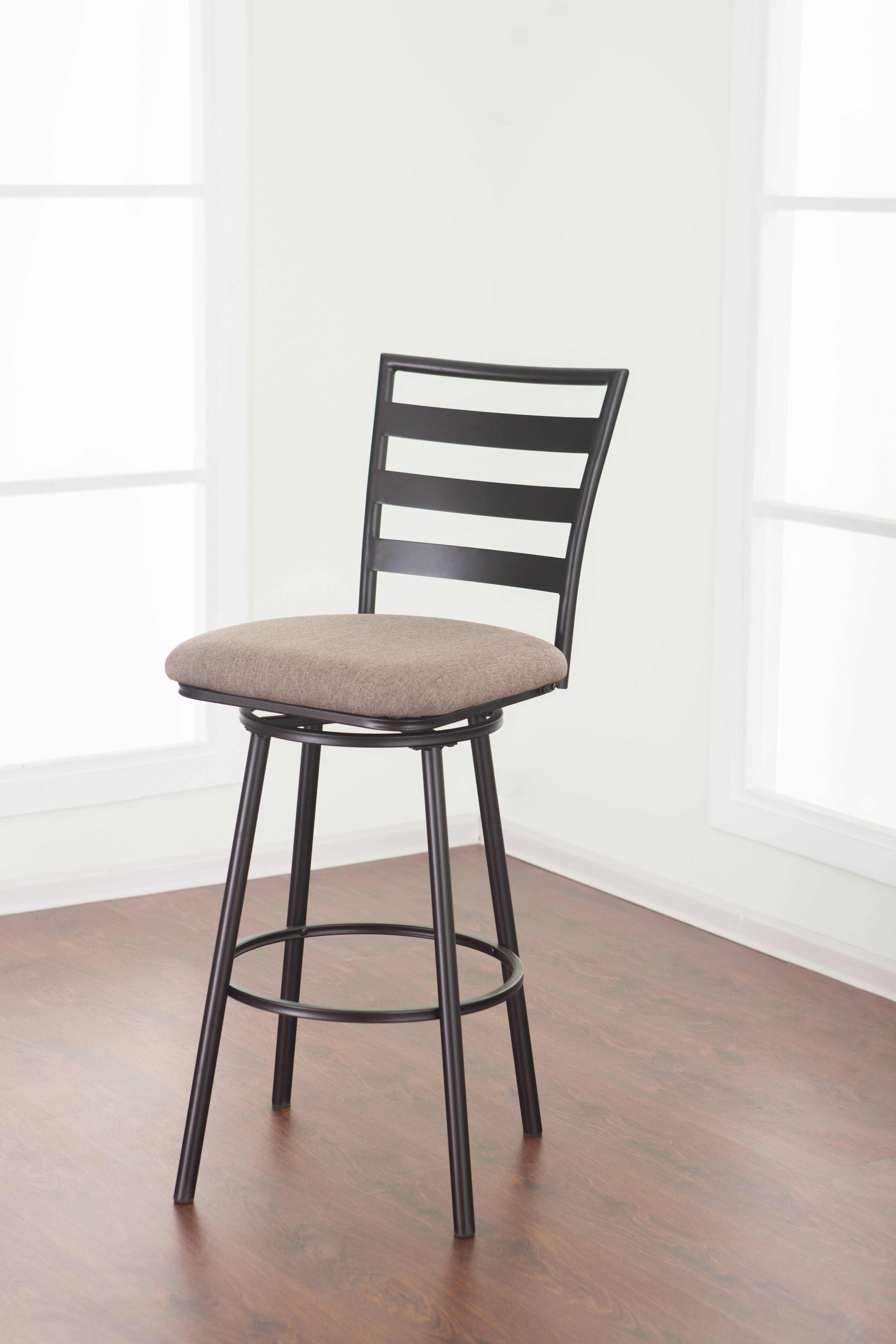 United Furniture Jordan Cherry Charcoal 29 Inch Counter Height Stool