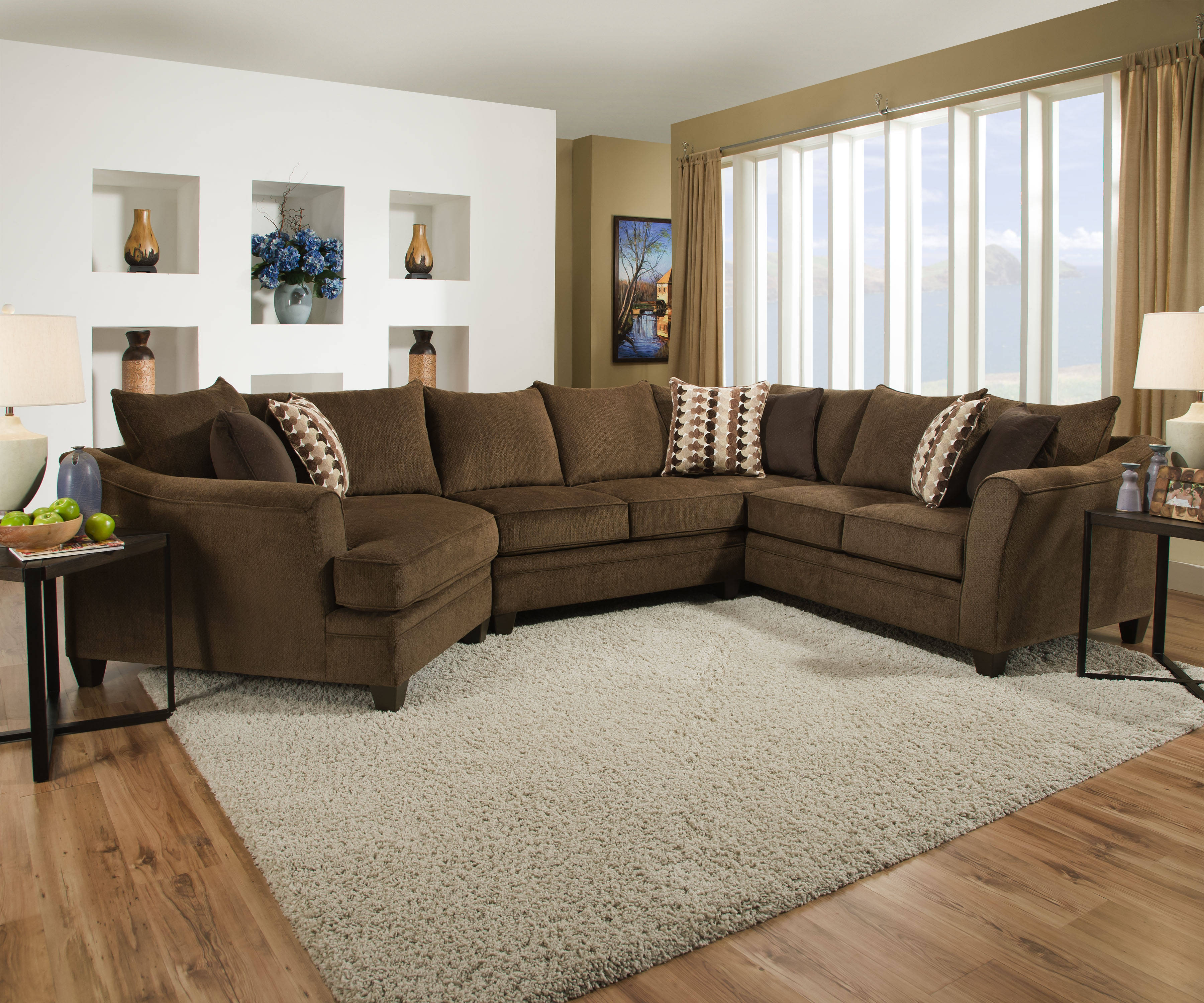 United Furniture Albany Chestnut Sectional
