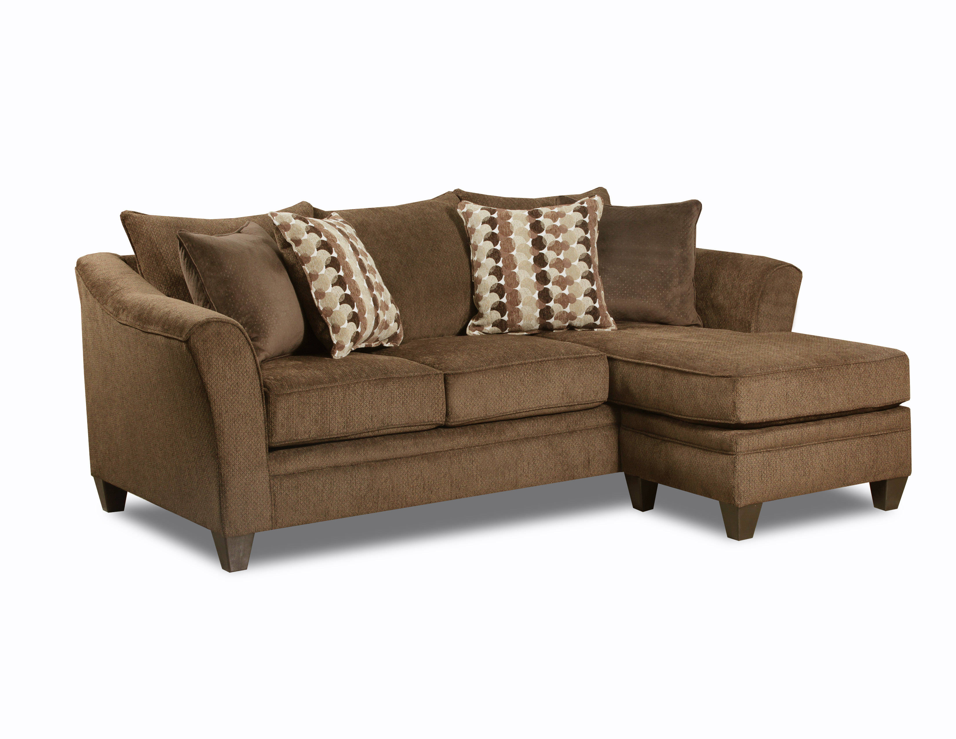 United Furniture Albany Chestnut Simmons Sofa Chaise Click To Enlarge ...