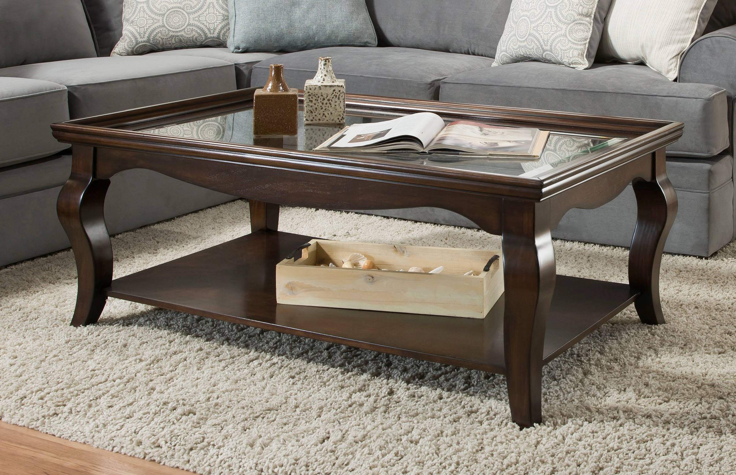 United Furniture Brown Rectangle Cocktail Table The