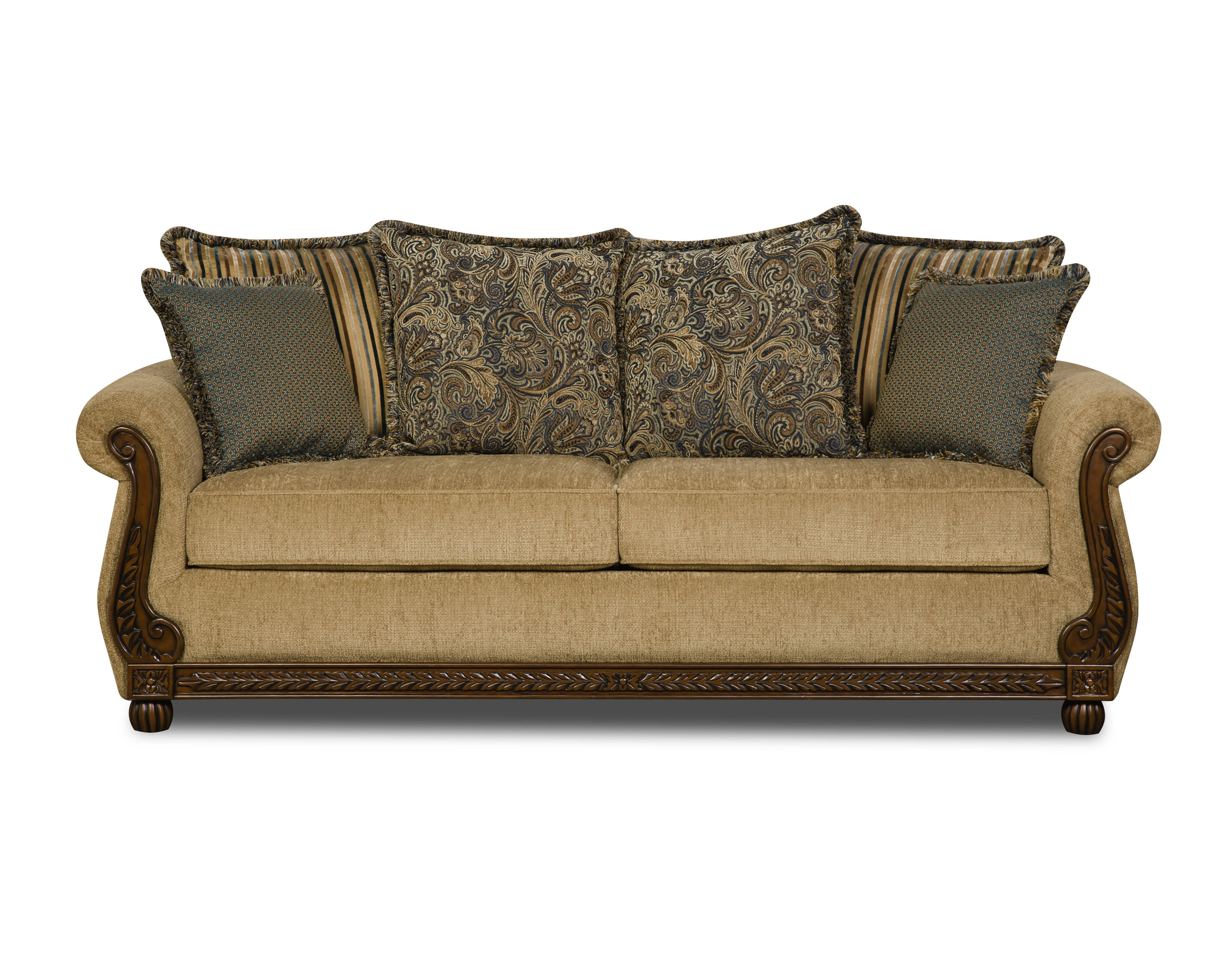 United Furniture Outback Antique Simmons Sofa Click To Enlarge