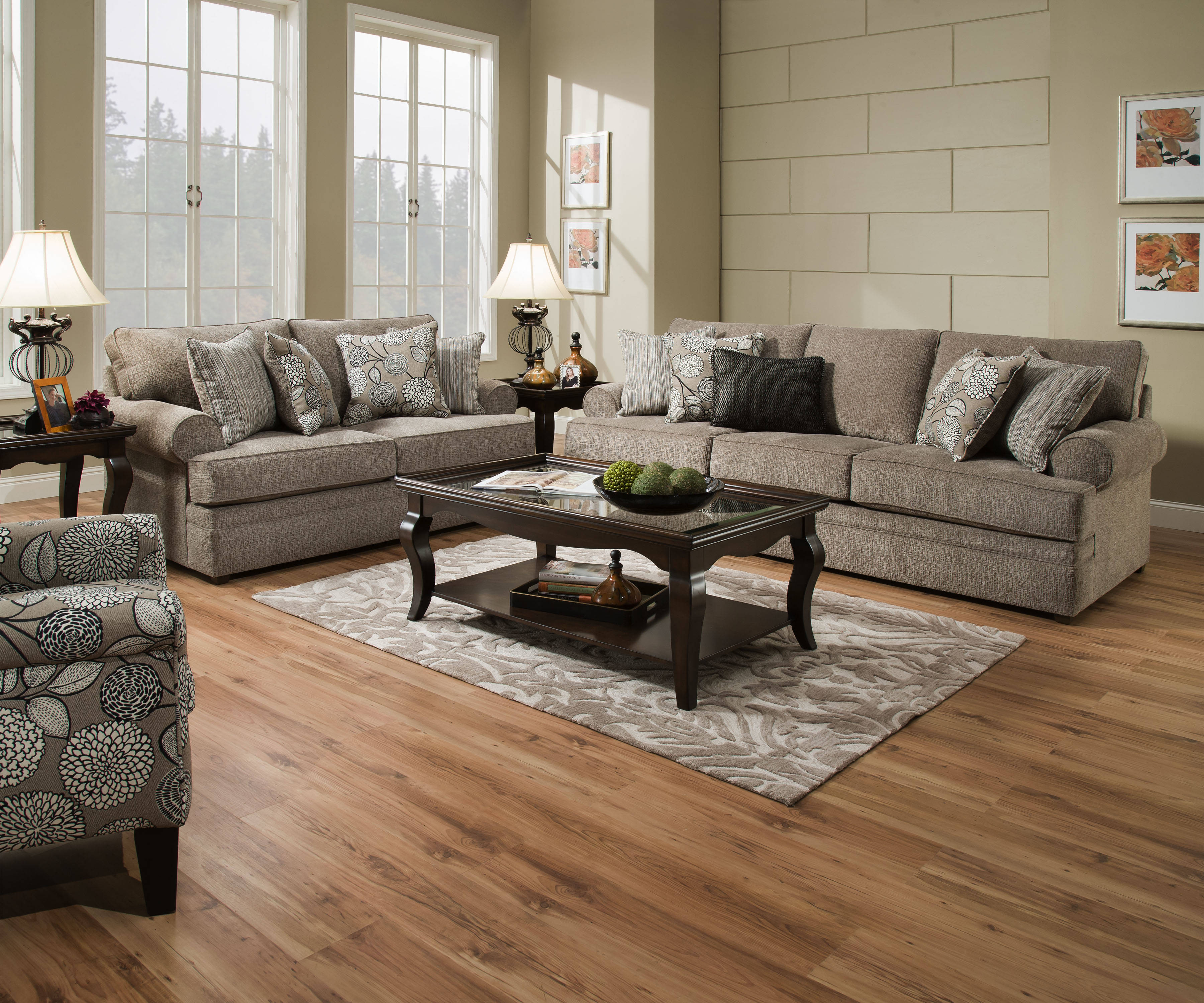 Lane Furniture Macey Pewter 3pc Living Room Set