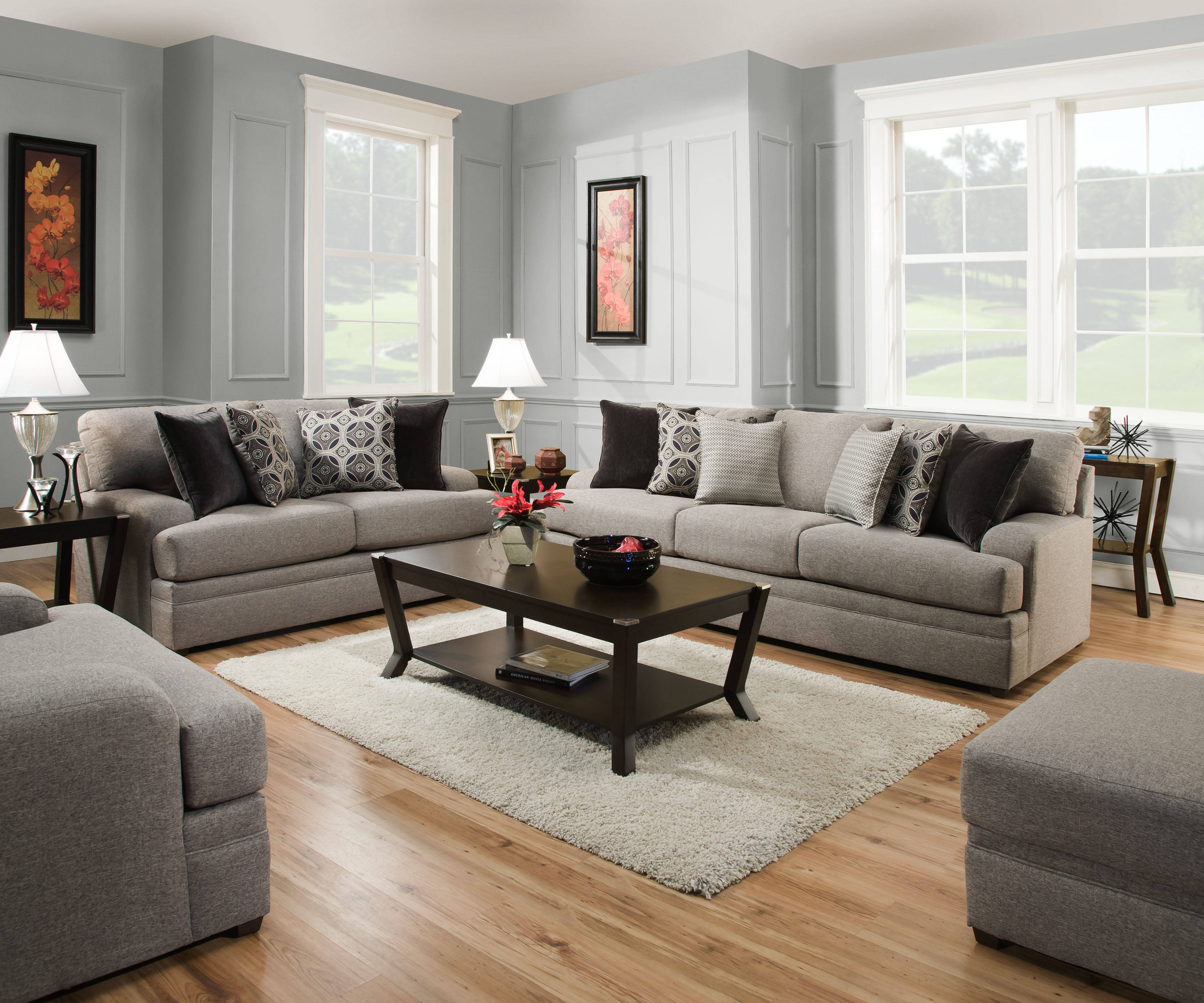 United Furniture Simmons Dublin Briar 3pc Living Room Set