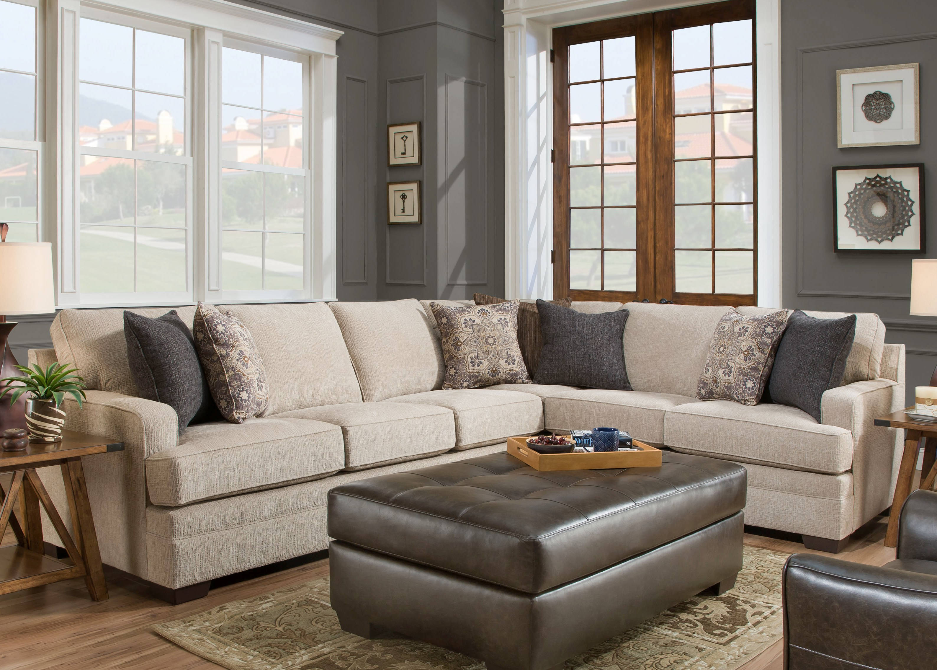 United Furniture Simmons Macy Sand Sectional Click To Enlarge ...