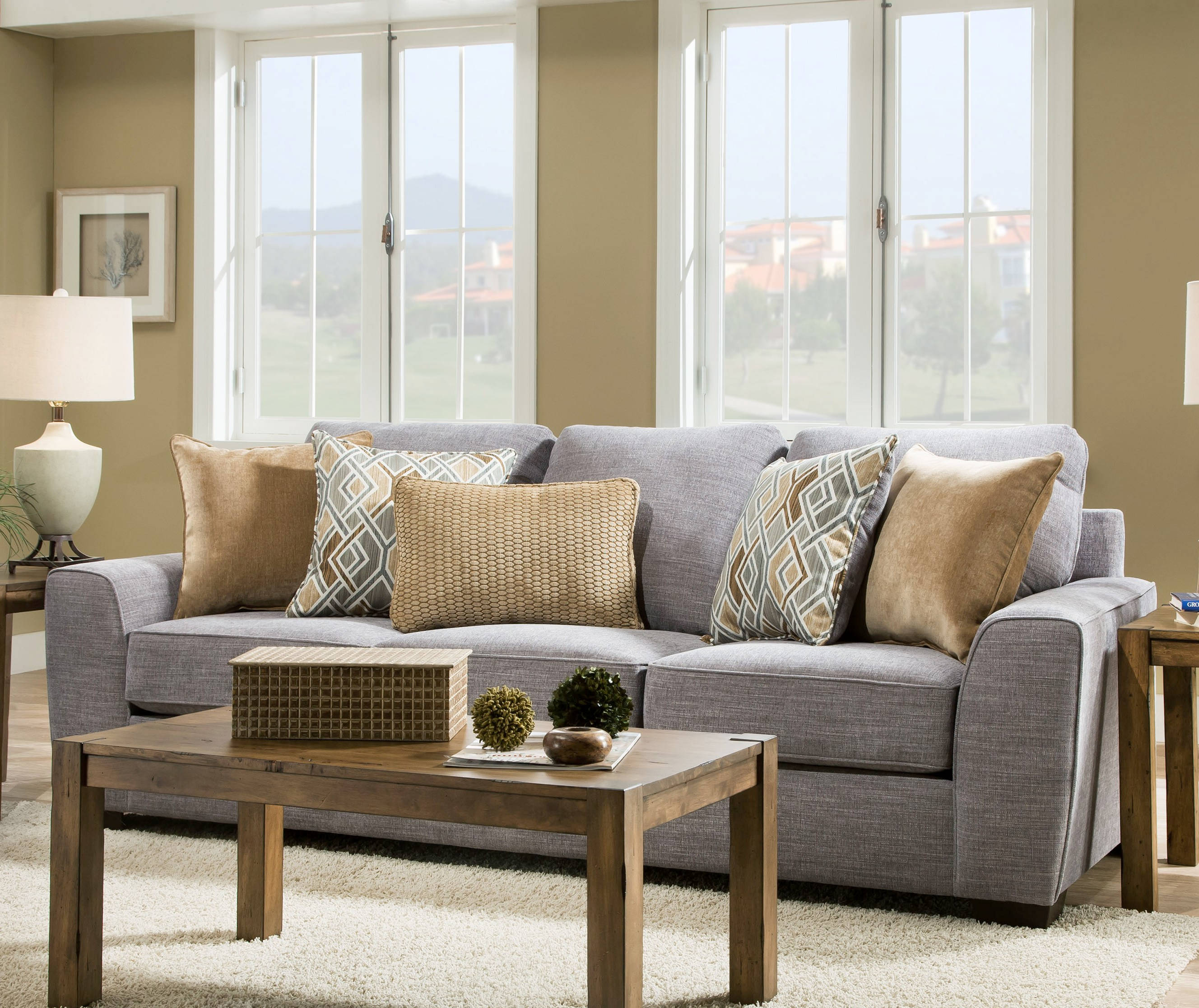United Furniture Simmons Pompeii Silver Sofa Click To Enlarge ...