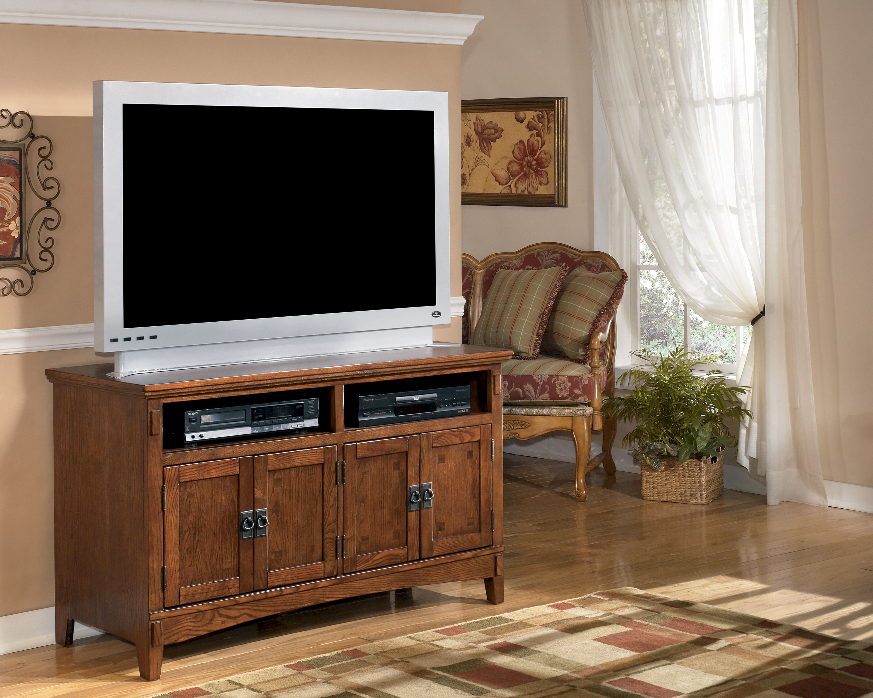 Ashley Furniture Cross Island Oak Stained 50 Inch Tv Stand The