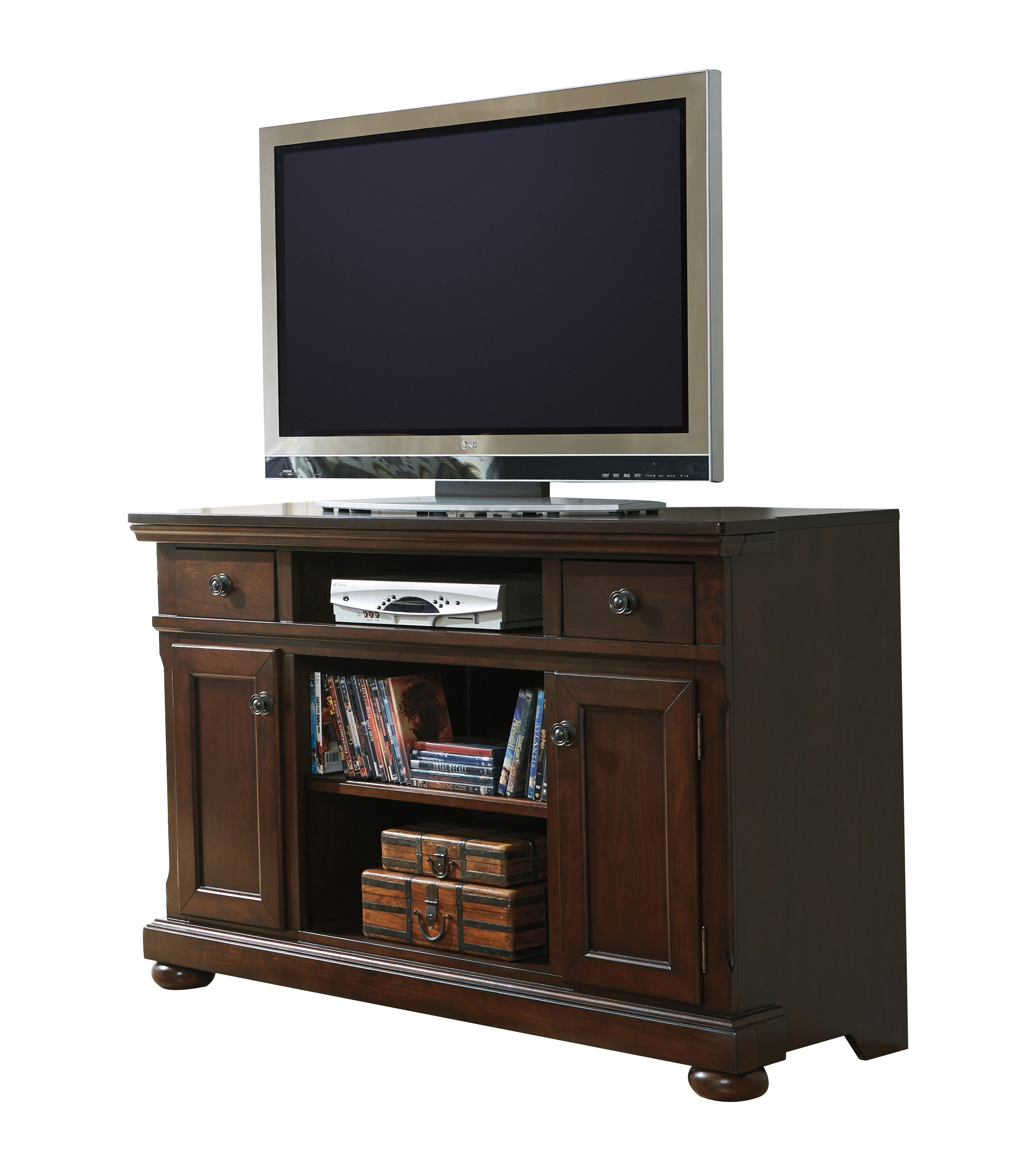 Ashley Furniture Porter Burnished Brown Lg Tv Stand The Classy Home