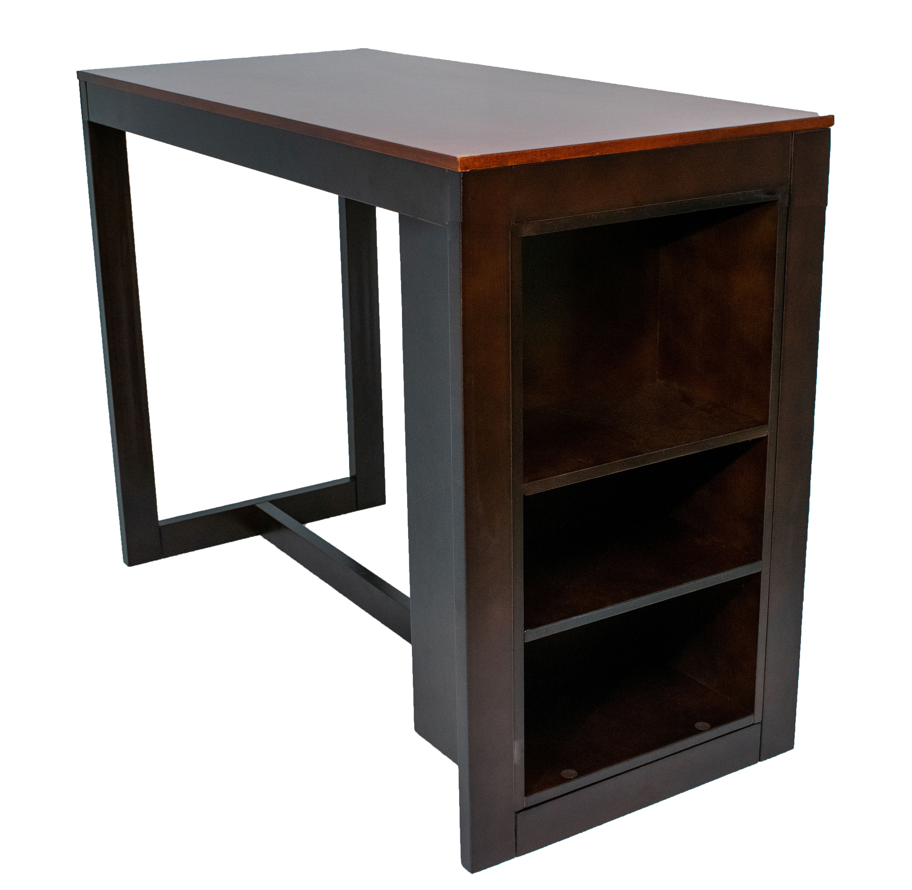 Brilliant Zebra Products Willoughby Cherry Merlot Counter Height Dining Table With Shelving Download Free Architecture Designs Salvmadebymaigaardcom
