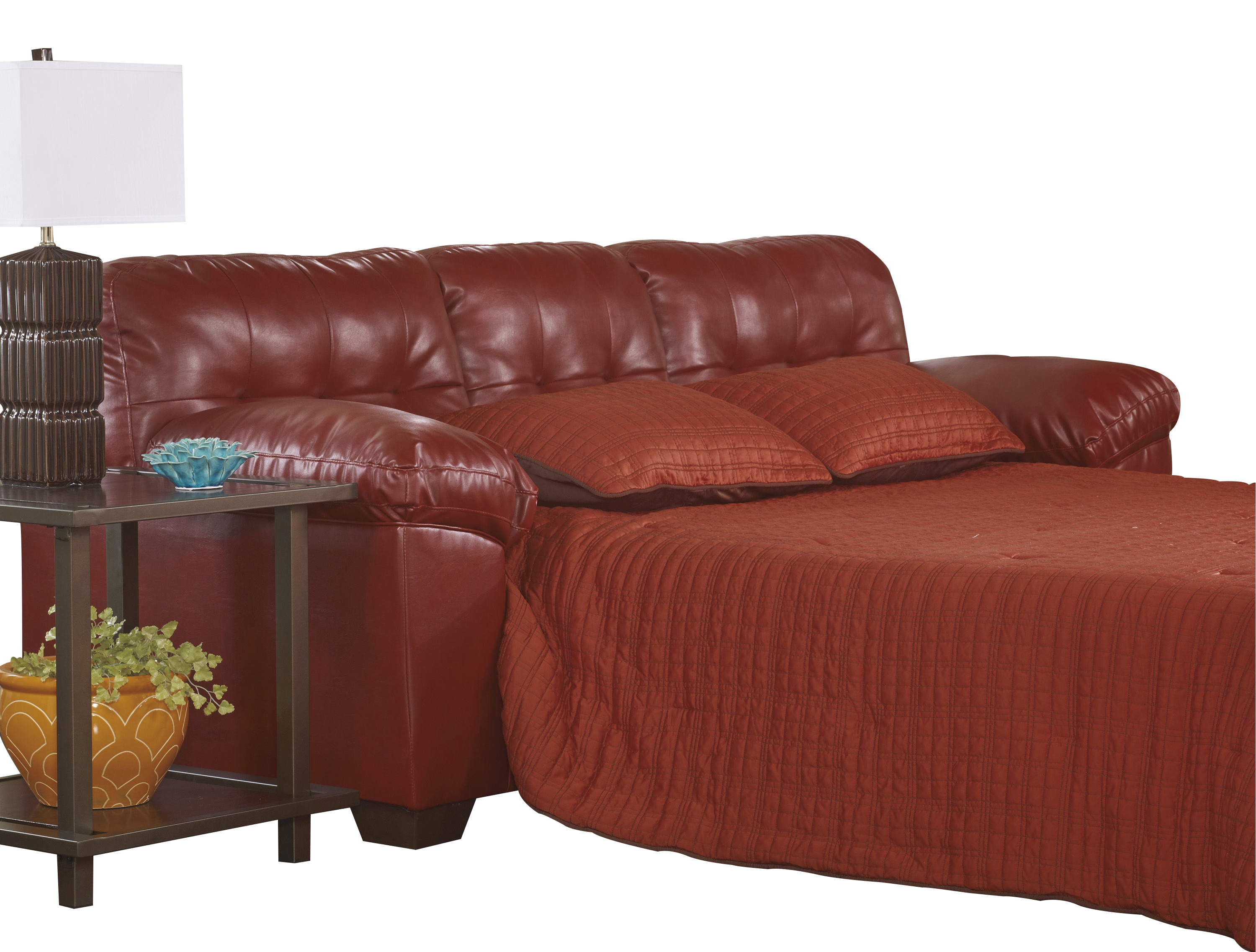 the best attitude 3f0e9 2be17 Ashley Furniture Alliston Durablend Salsa Queen Sofa Sleeper