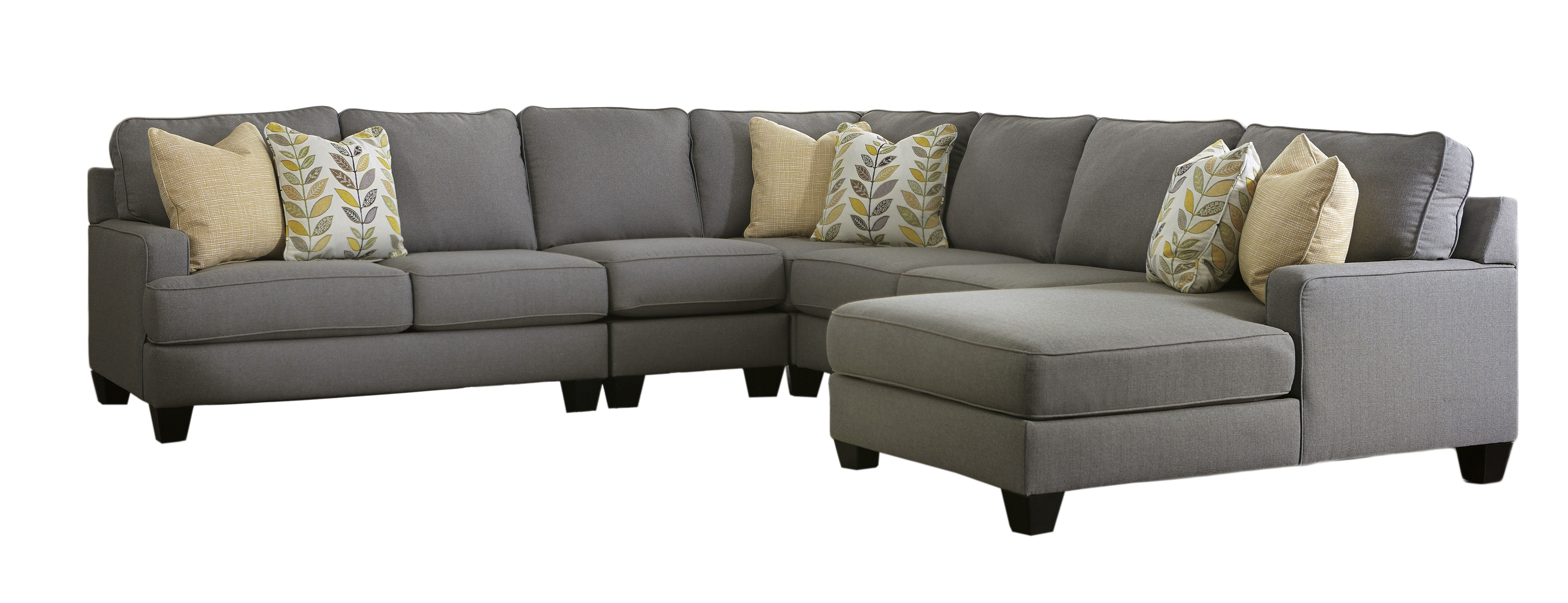 Ashley Furniture Chamberly Alloy Raf Chaise 5pc Sectional The Classy Home