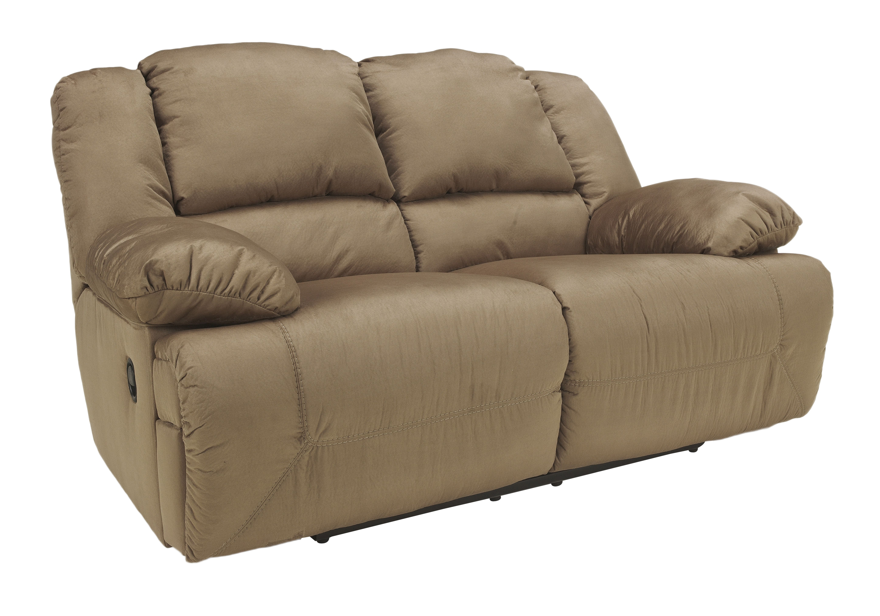 Ashley Furniture Hogan Mocha Reclining Loveseat The Classy Home