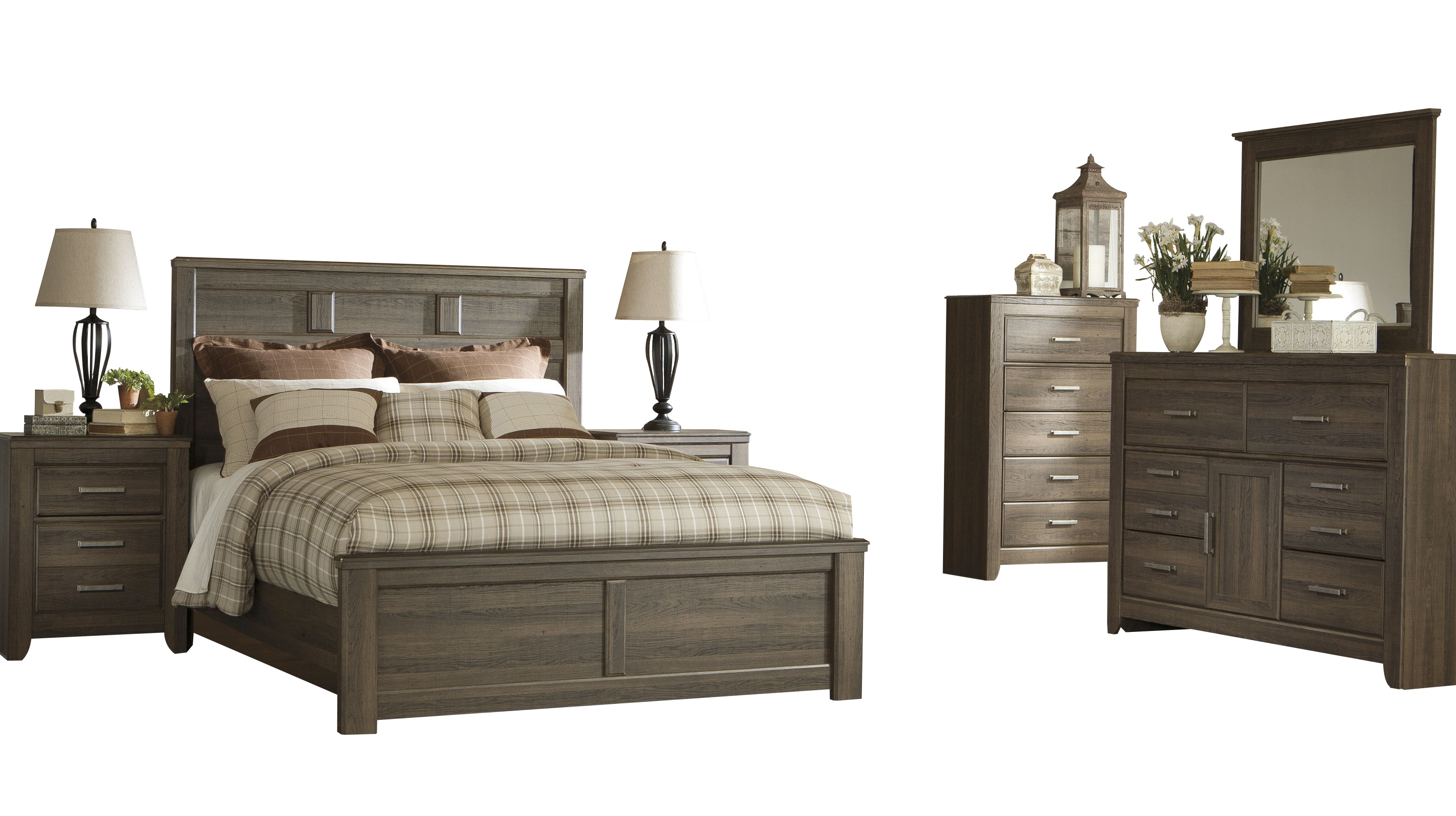 Ashley Furniture Juararo 2pc Bedroom Set With Queen Panel Bed The Classy Home
