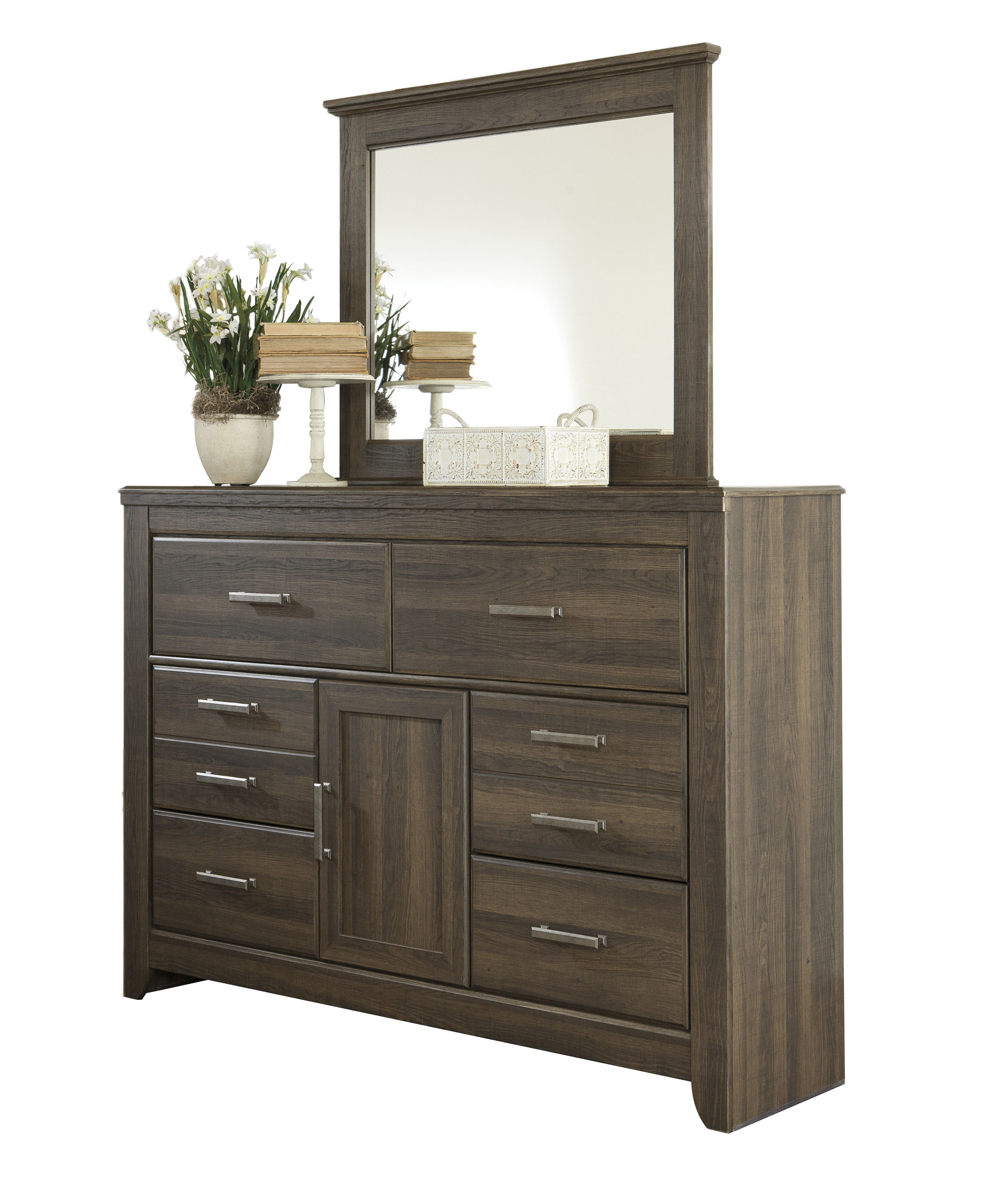 Ashley Furniture Juararo Wood Glass Dresser And Mirror